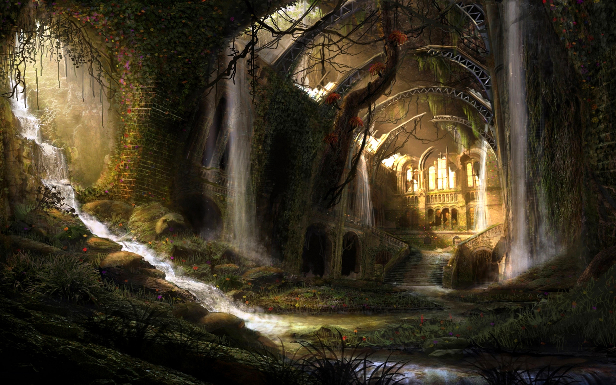 2560x1600 Fantasy - Landschaft Wallpaper