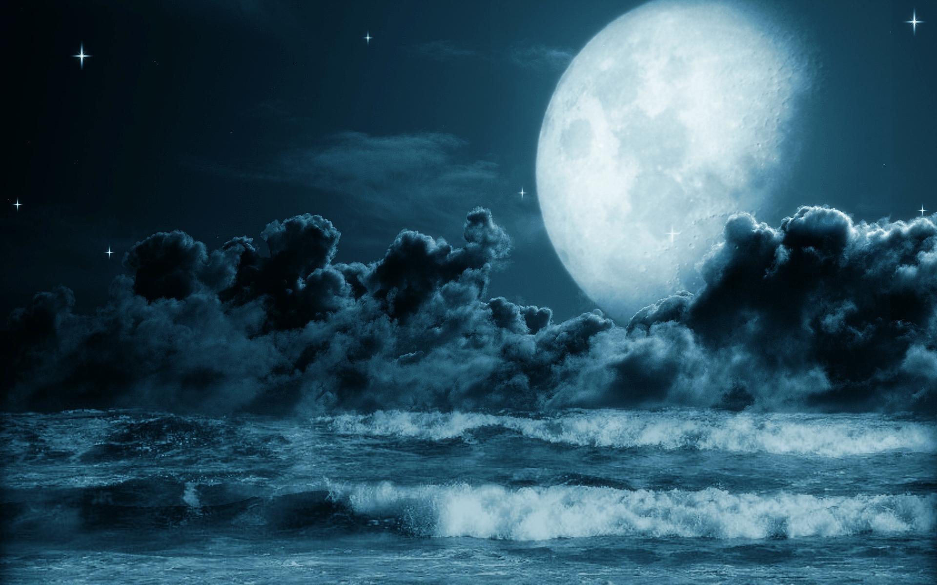 Fotos de lua cheia no mar 29