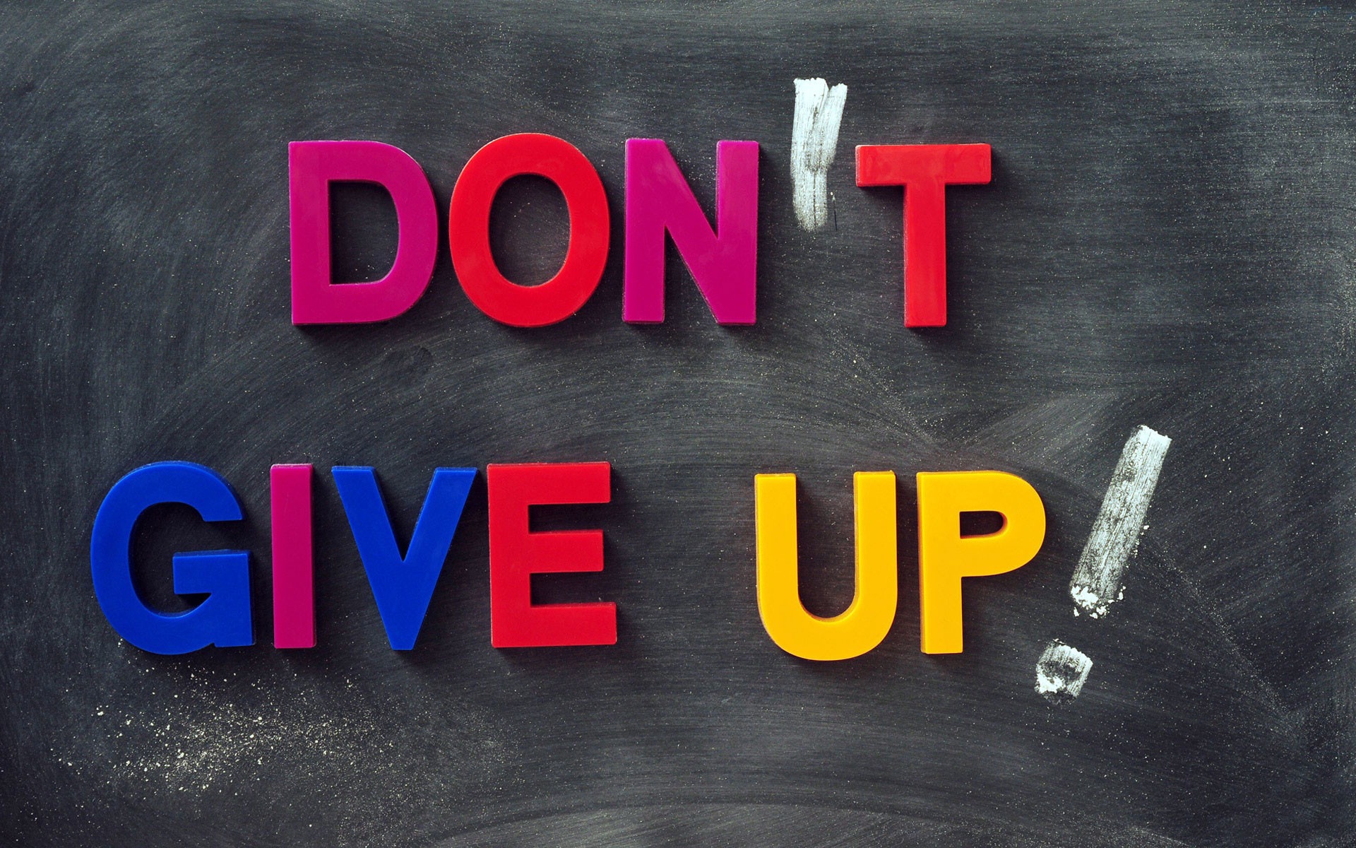 1920x1200 never give up wallpaper