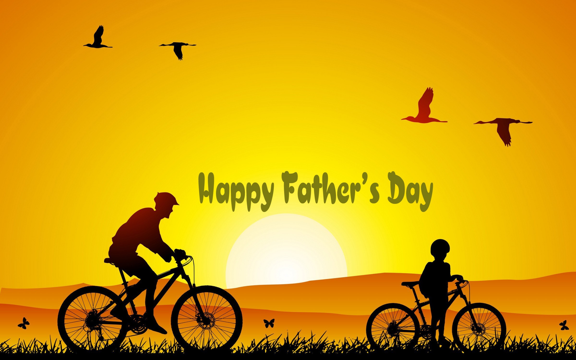 2400x1500 Happy Father's Day HD Wallpaper For Friends