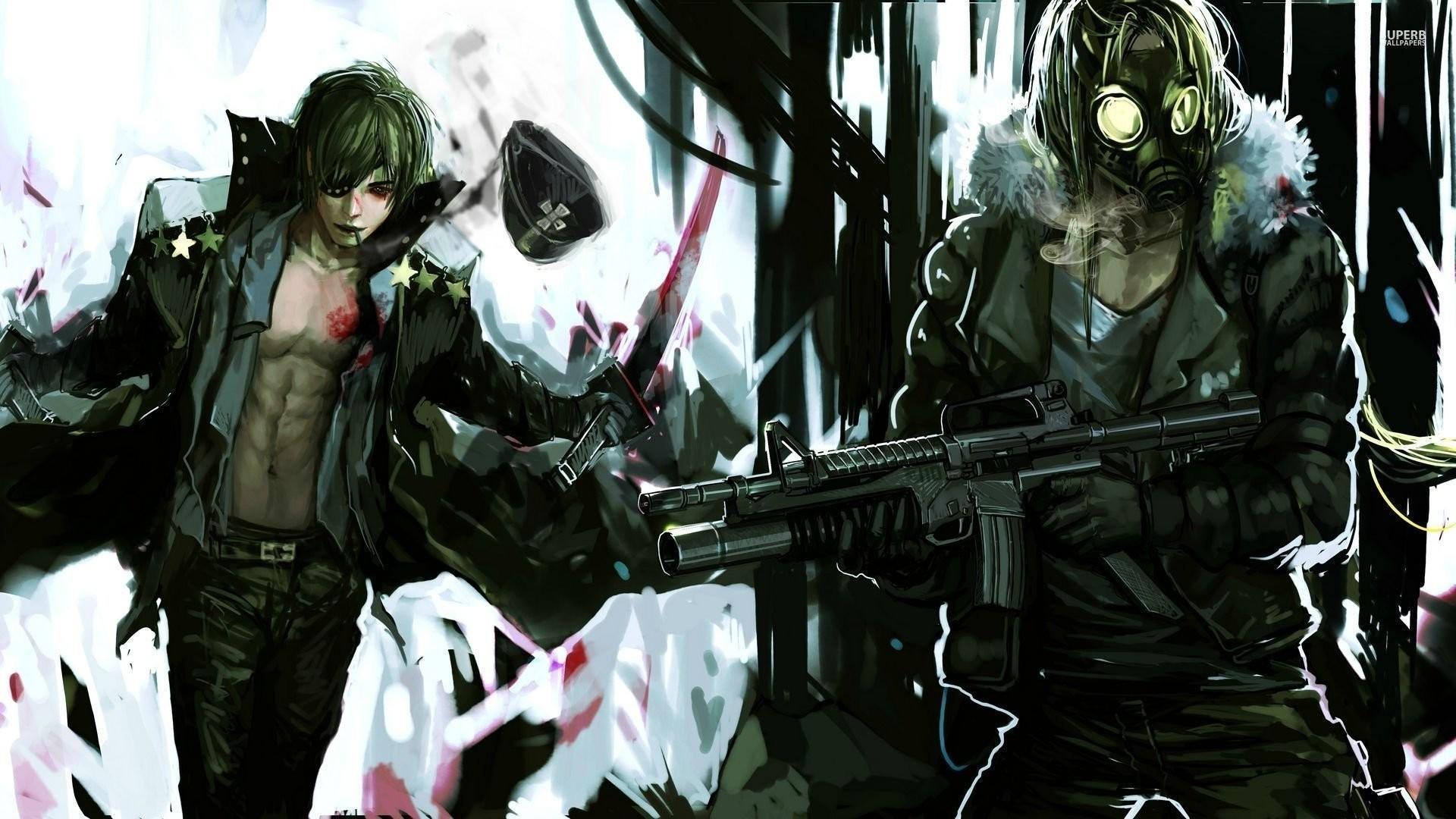Anime gun wallpaper 61 images - Anime guy wallpaper ...