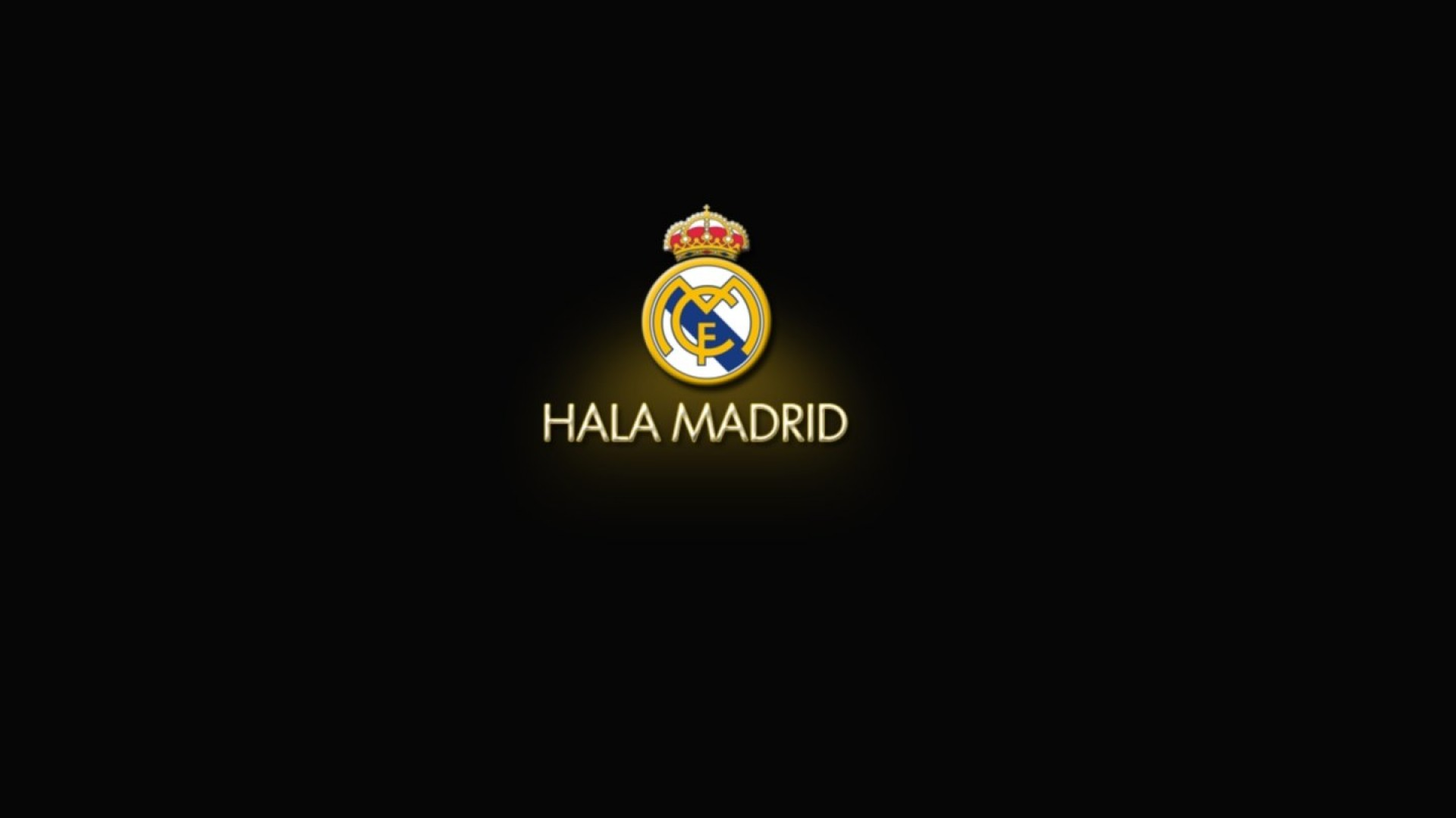 1920x1080 Real Logo Madrid Black Wallpapers