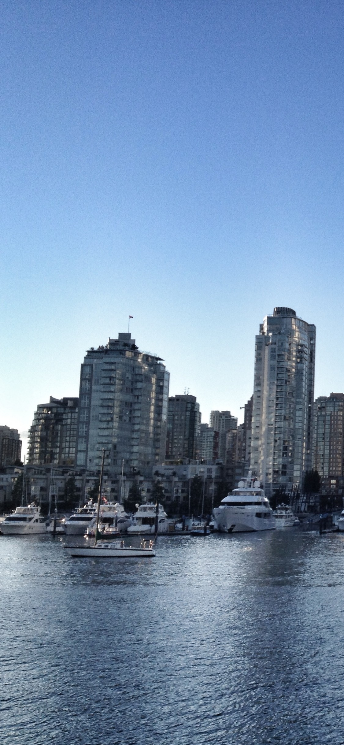 1125x2436 Download Vancouver skyline future, Skyline group vancouver wallpaper