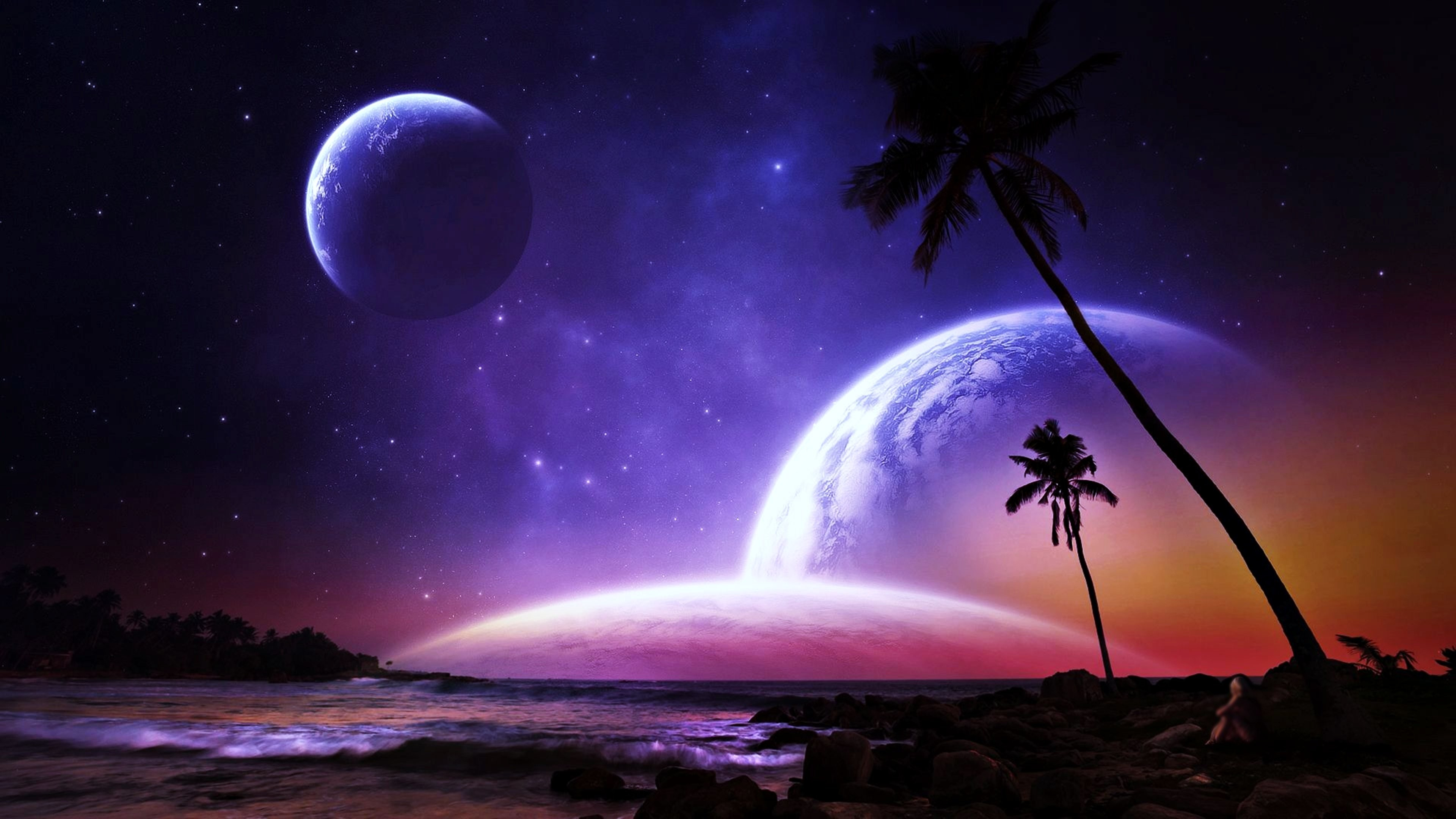Fantasy planets wallpaper 80 images - Galaxy christmas wallpaper ...