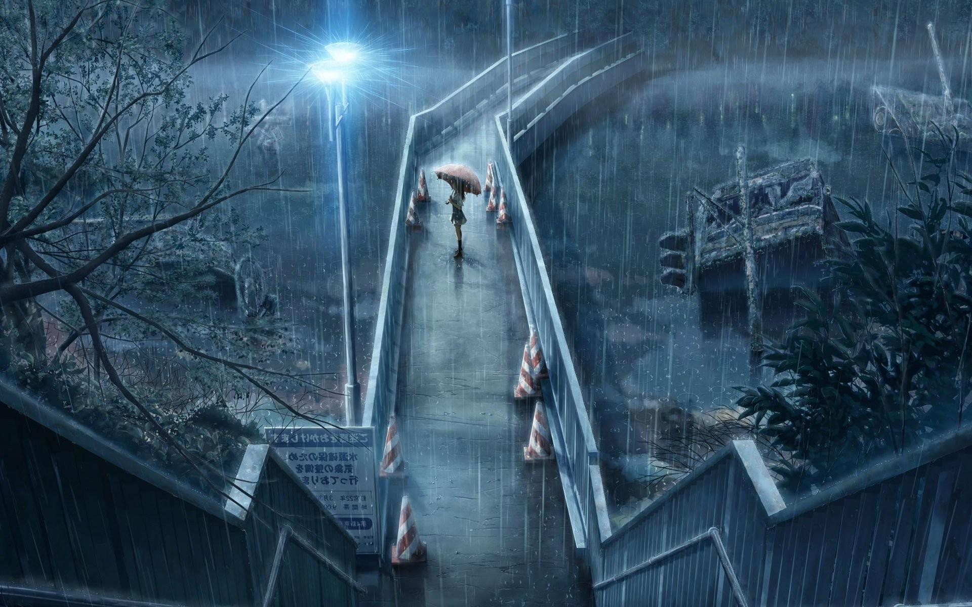 1920x1200 Cool Anime Wallpaper in Rain with Umbrella Beautiful rain hd clipart  ClipartFox