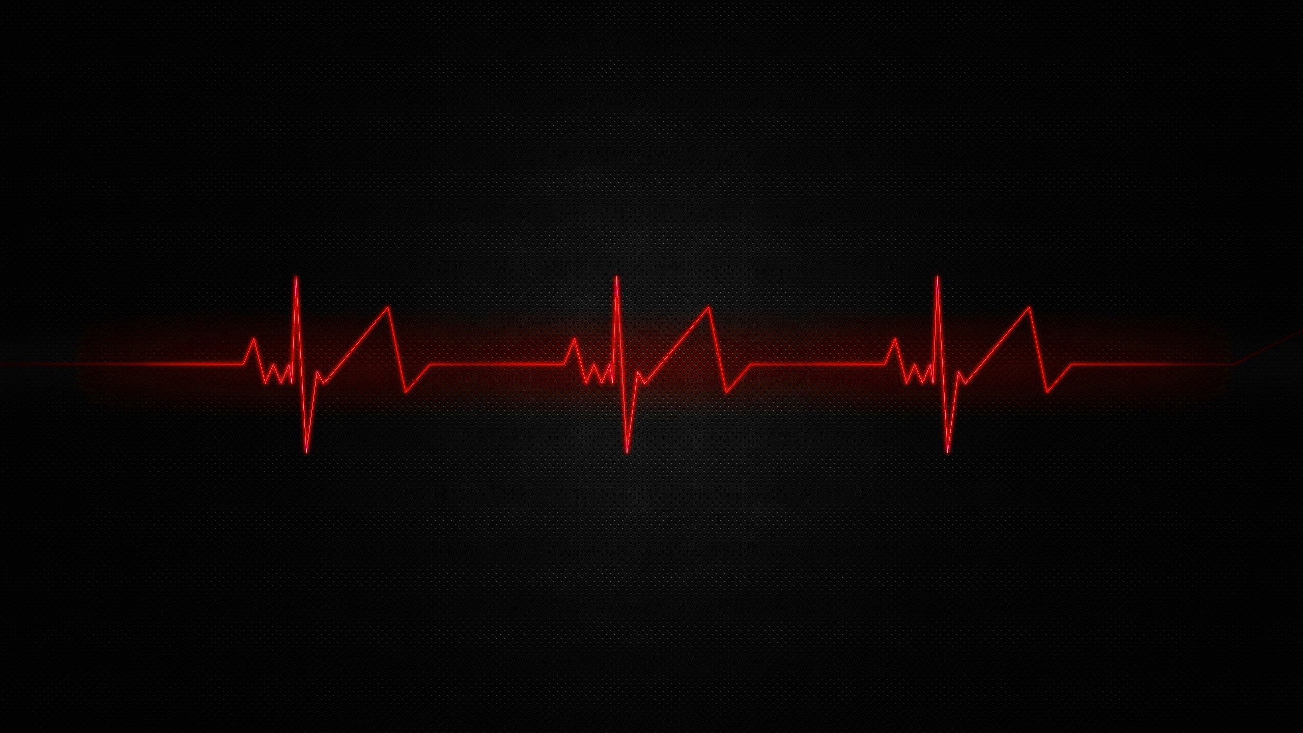 2560x1600 Black And Red Heart Wallpaper Background