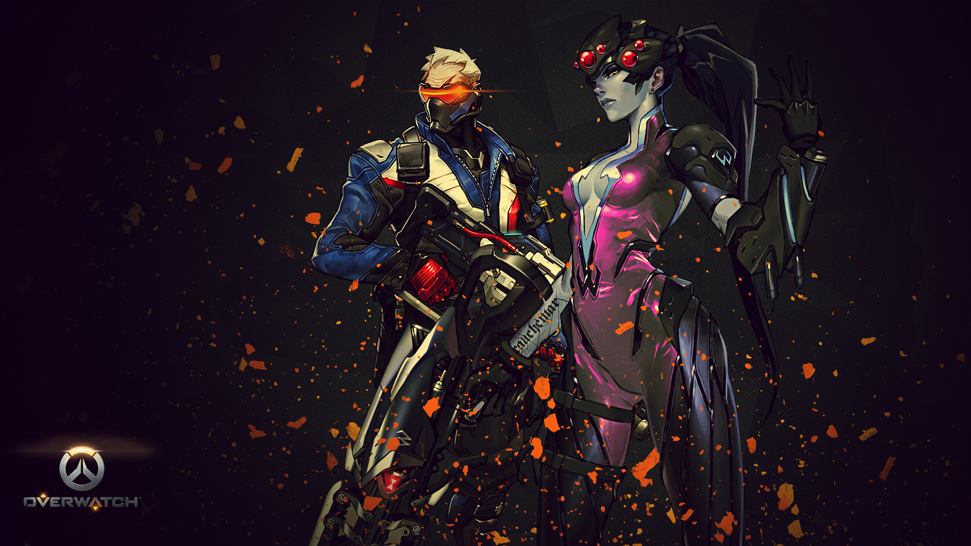 1920x1080 Video Game - Overwatch Soldier: 76 (Overwatch) Widowmaker (Overwatch)  Wallpaper