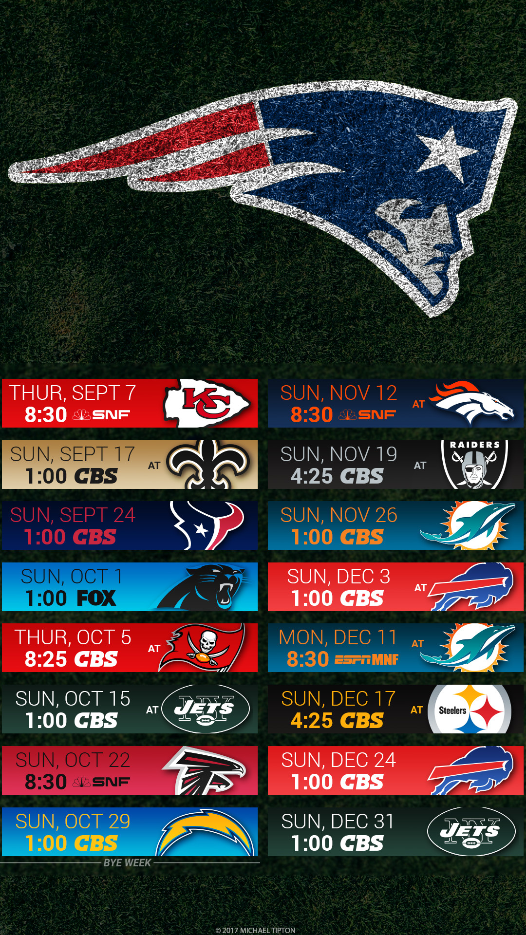 1080x1920 New England Patriots 2017 schedule turf logo wallpaper free iphone 5, 6, 7,  ...