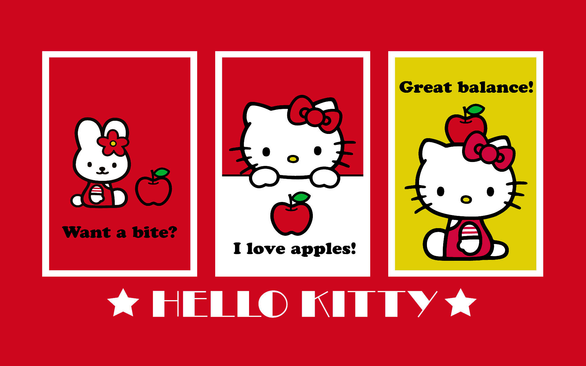 1920x1200 Red hello kitty wallpaper Hello Kitty Wallpapers