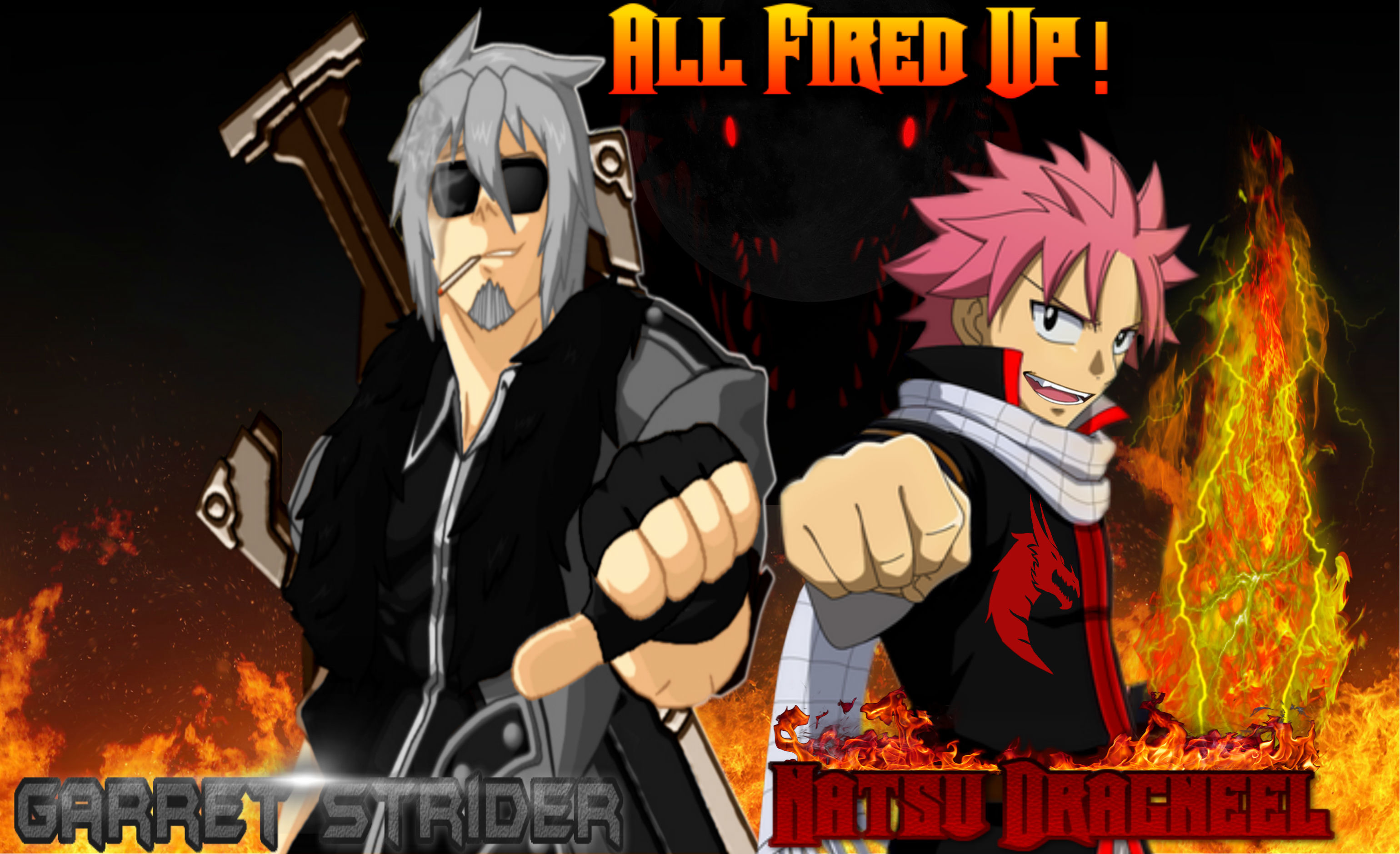 3080x1880 ... Two Slayers from different worlds unite. by Fire-Dragon-Slayer16