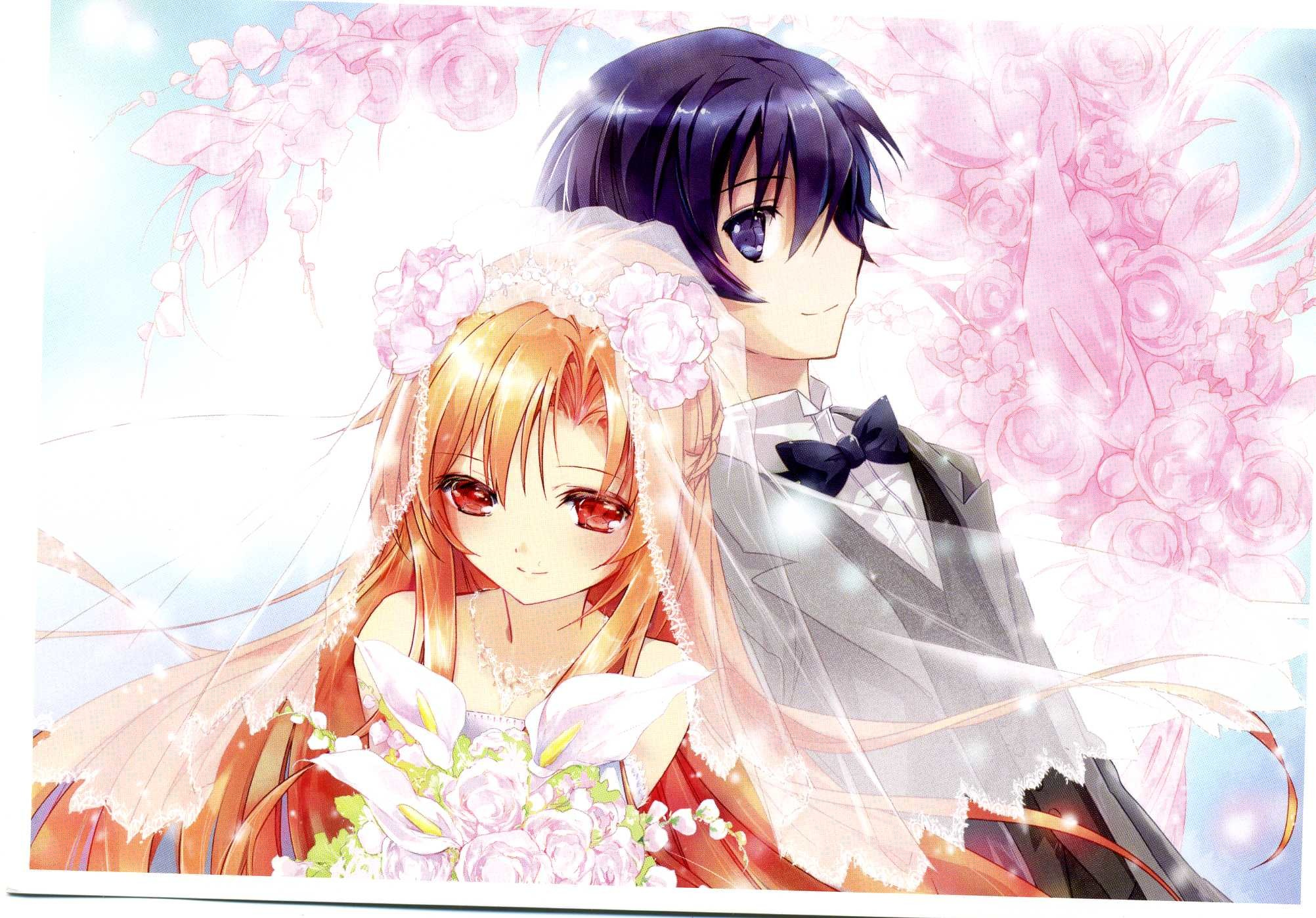 2004x1398 Are you looking for anime couple wallpapers or SAO wallpapers? - added by daftiduck