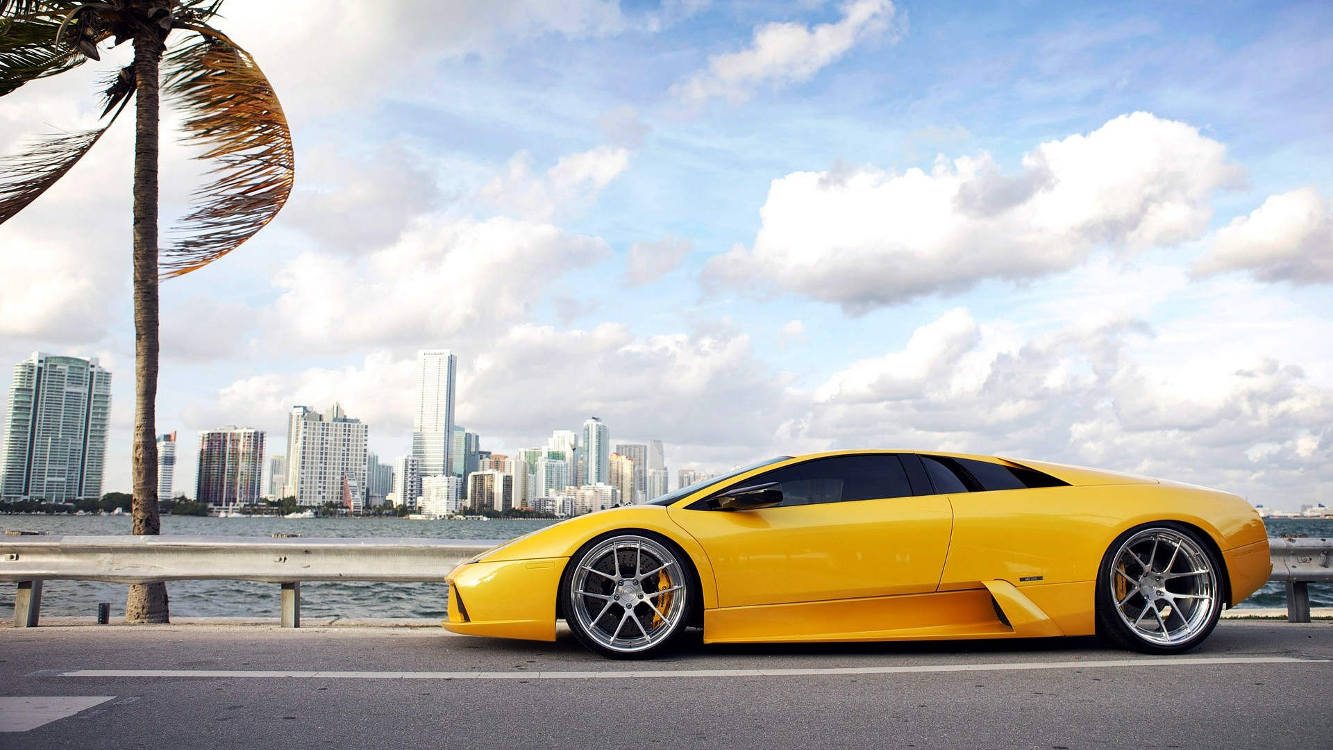 1920x1080 ... lamborghini murcielago yellow hd wallpapers backgrounds ...
