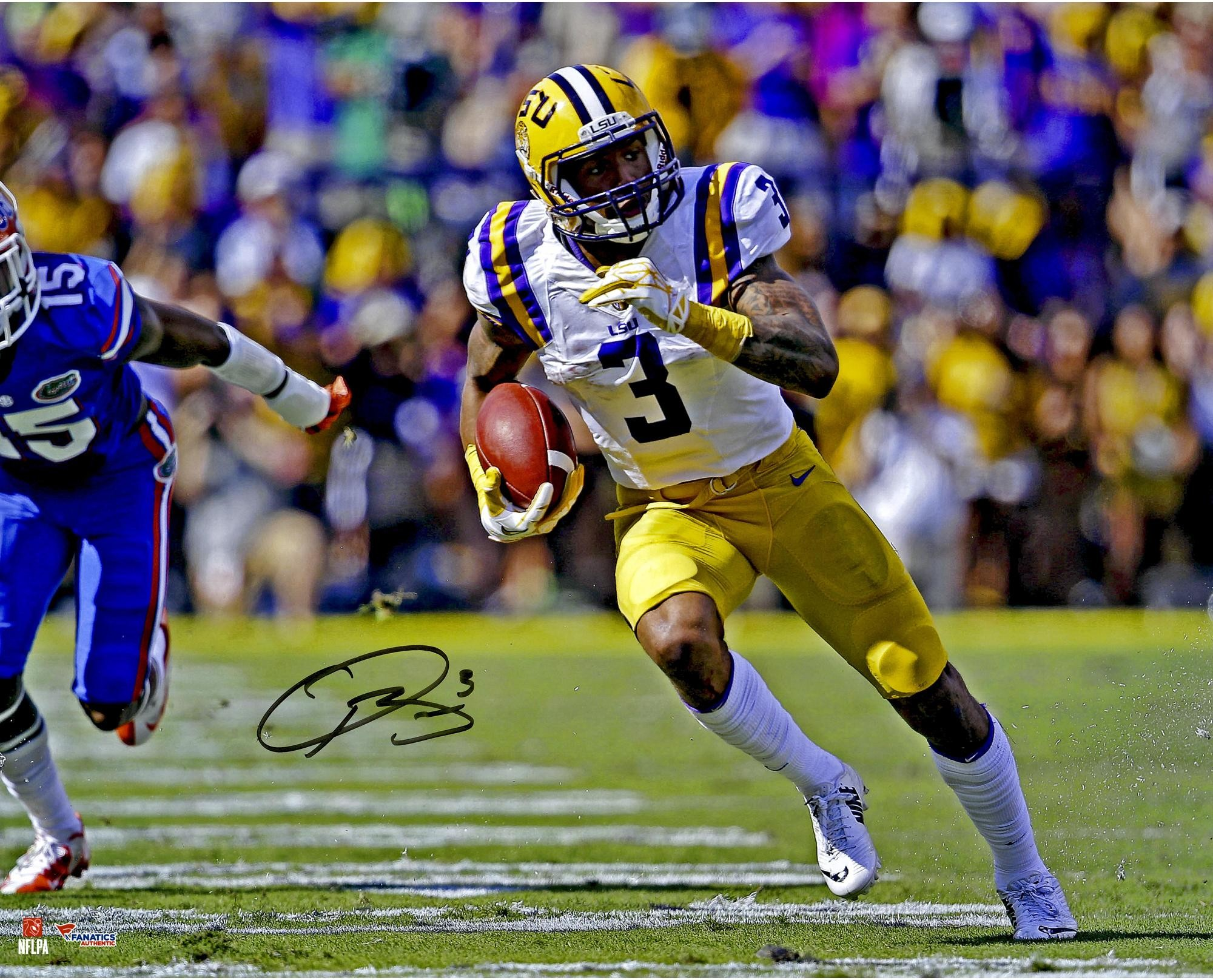 "2000x1616 Odell Beckham Jr. LSU Tigers Autographed 16"" x 20"" Open Field vs Florida"