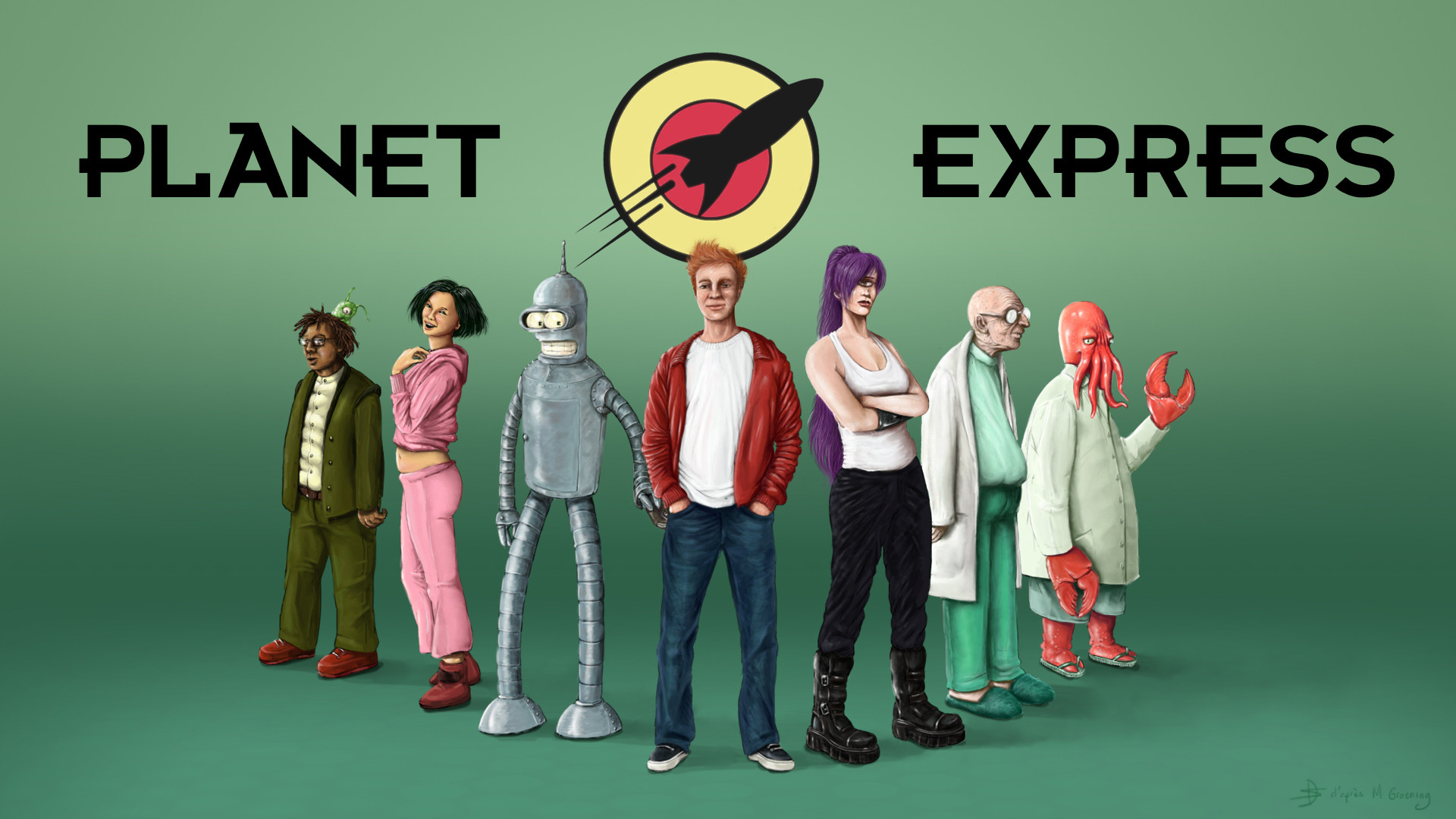 1920x1080 Lifelike Planet Express – Futurama