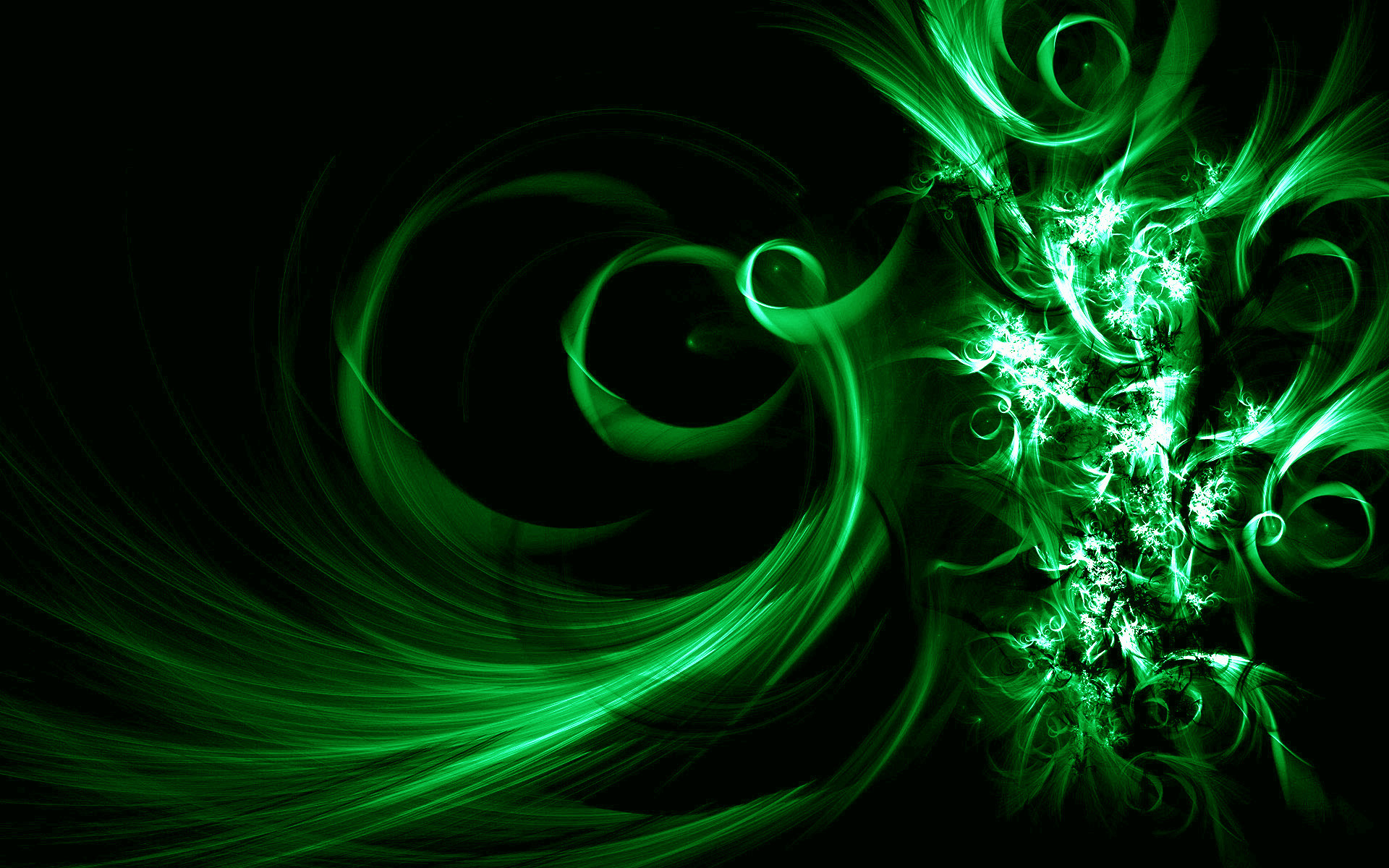 1920x1200 Image Description: This is Black and Green Vector Abstract Desktop Wallpaper  in Buubi.com