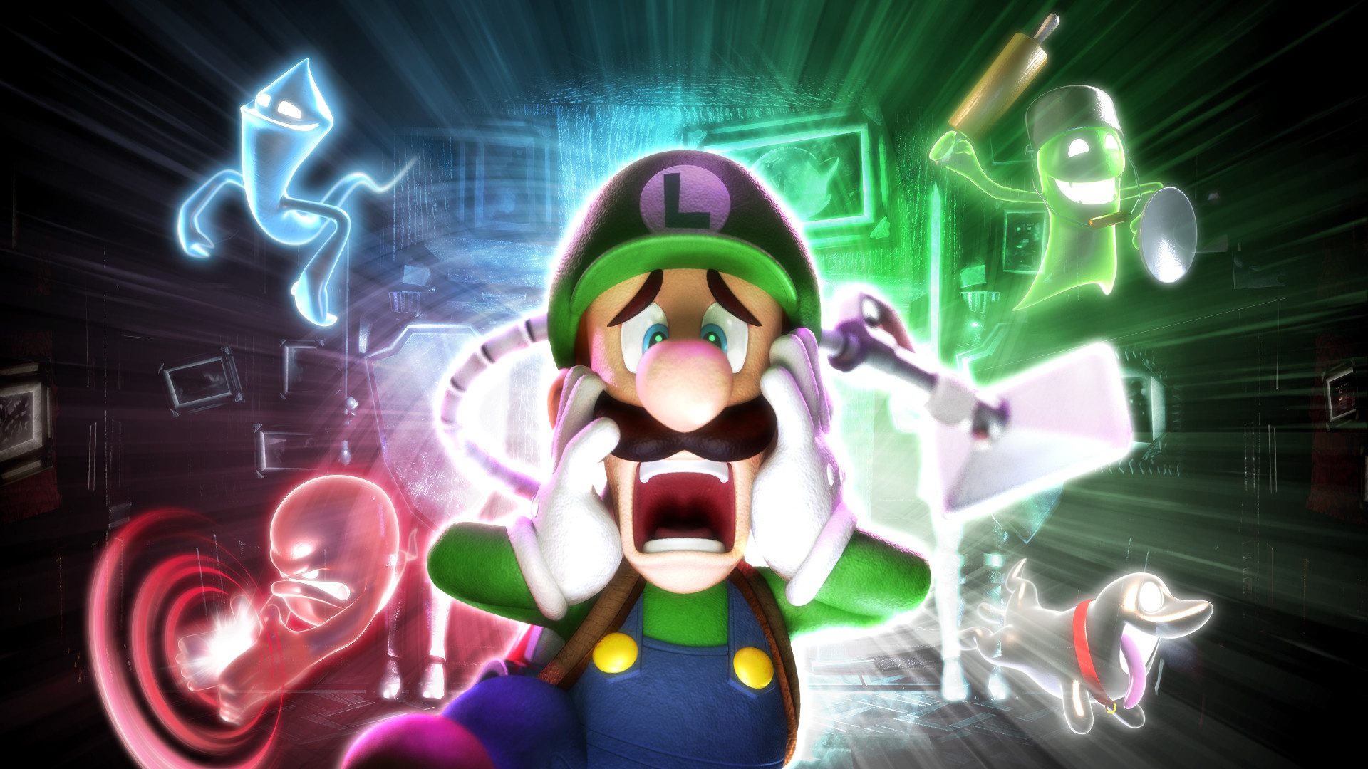 1920x1080 Cheer Luigi up and buy his game. You'll need a 3DS too,