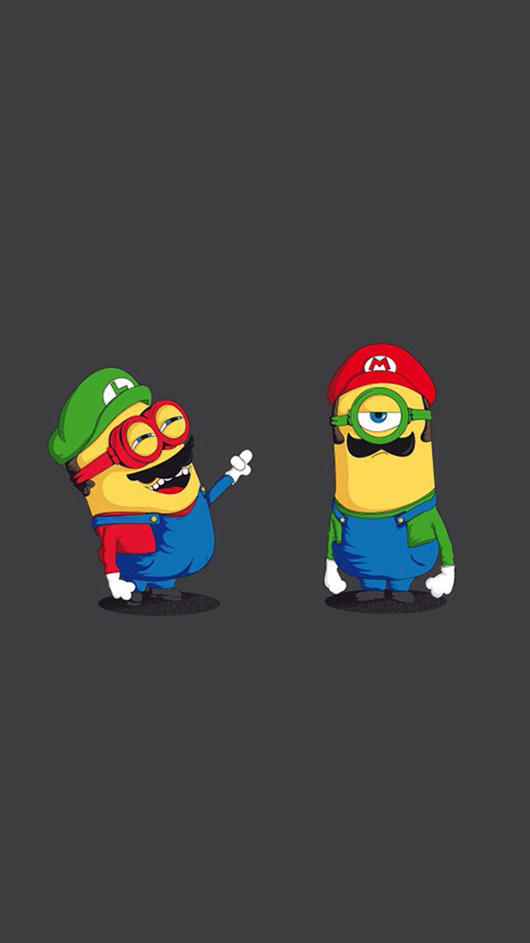 1080x1920 Funny Mario And Luigi Minions HD Wallpaper iPhone 6 plus