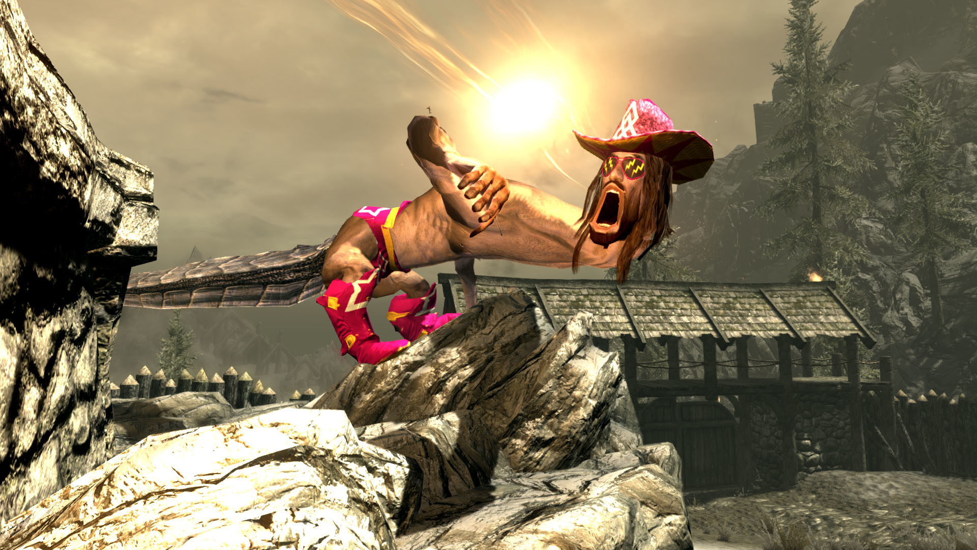 1920x1080 The life and times of Skyrim's best dragon: Macho Man Randy Savage | PC  Gamer