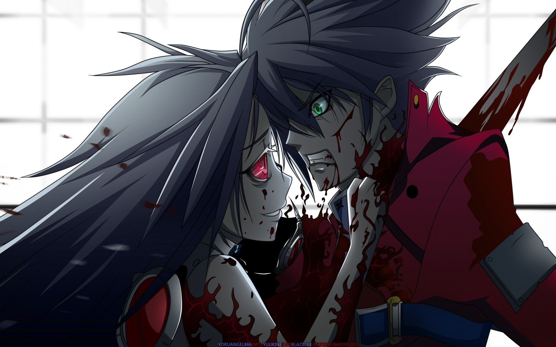 1920x1200 new anime guy | Wallpapers Style Boys Anime Blood Murder Girl Boy   | #688371