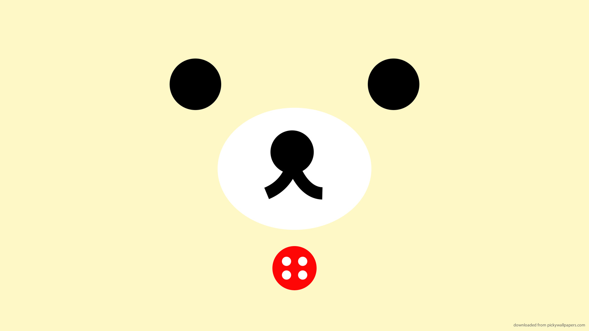 1920x1080 Rilakkuma Red Button picture
