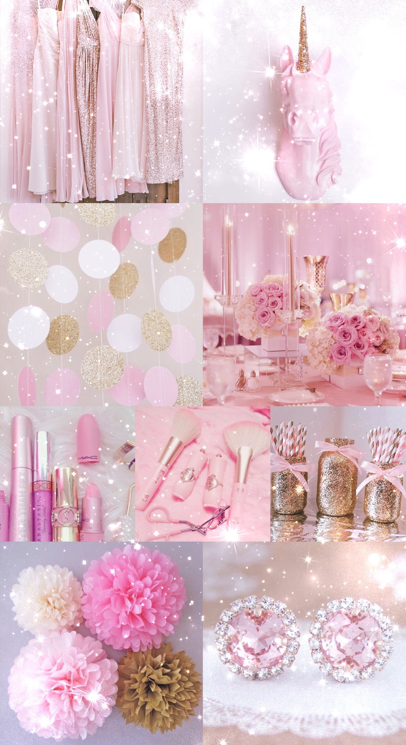1397x2560 pink, gold, wallpaper, background, hd, iPhone, glitter, sparkle,