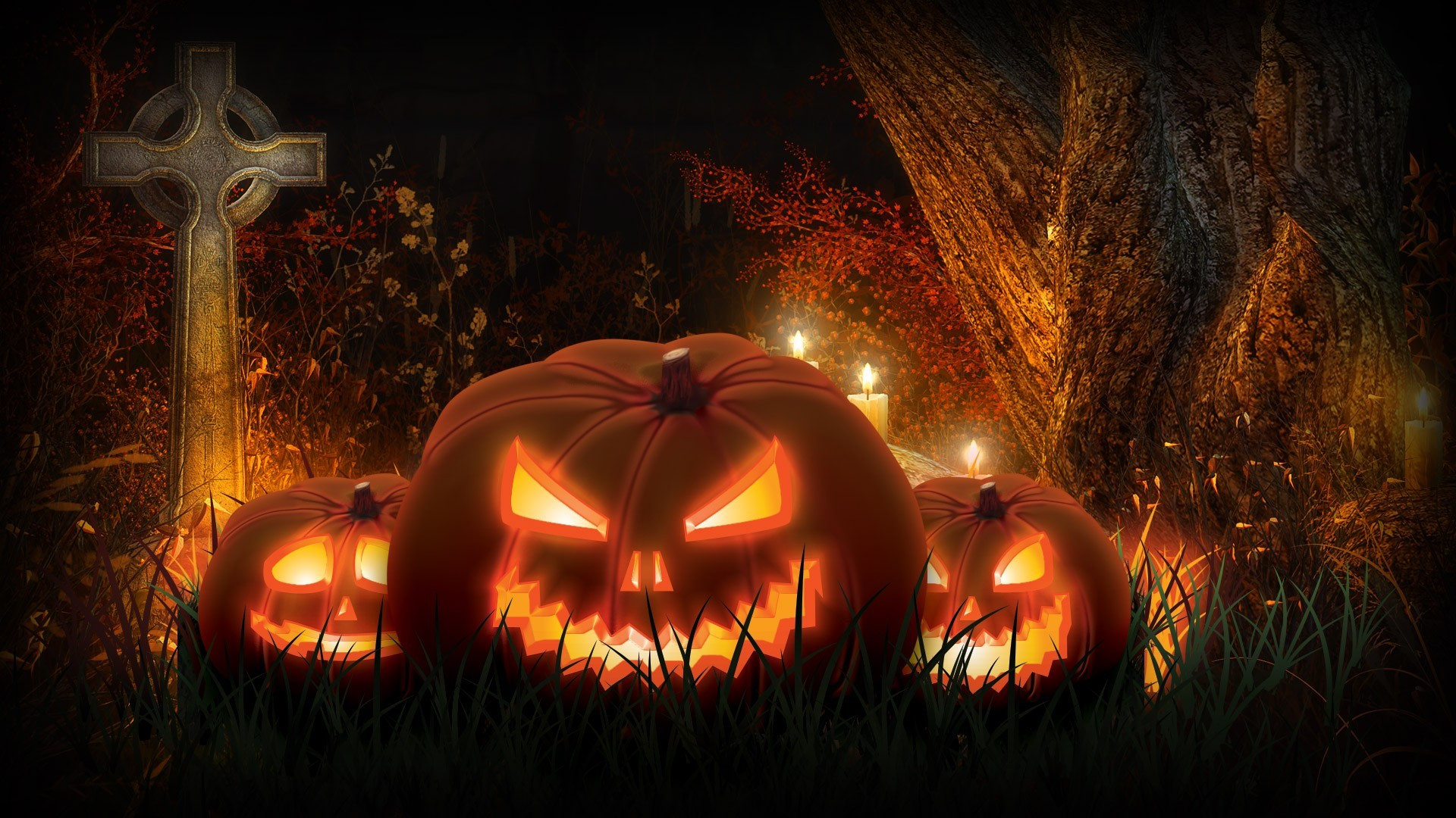 scarecrows and pumpkins wallpaper  58 images tree house autumn 5k results tree house autumn 5k results