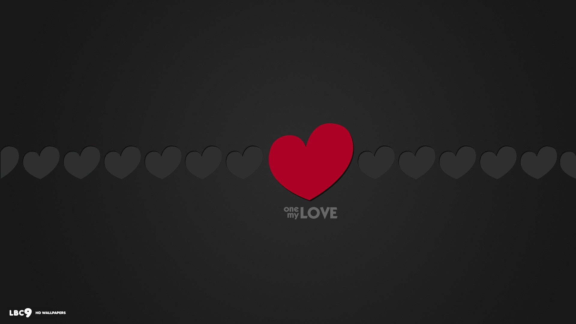 1920x1080  love word one my love minimalistic red grey hearts desktop  background