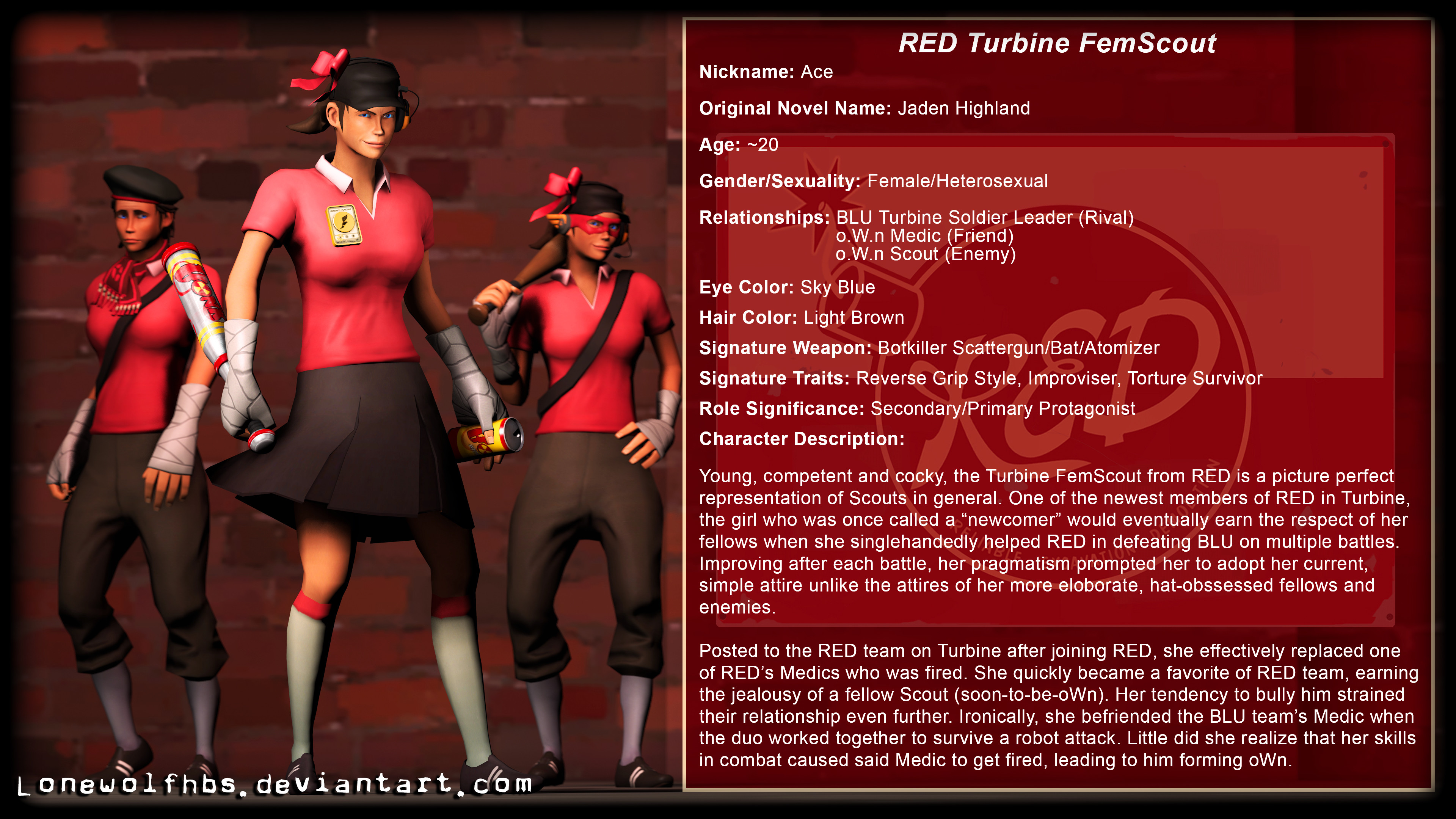 3840x2160 ... Biography] TF2 - CoP - RED Turbine FemScout by LoneWolfHBS