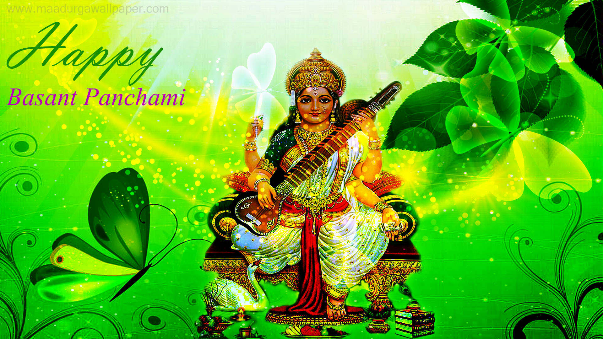 Beautiful Wallpaper Lord Saraswati - 272080  Photograph_30516.jpg