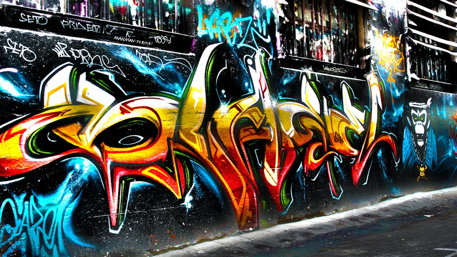 1920x1080 Artistic - Graffiti Trippy Psychedelic Urban Urban Art Wallpaper