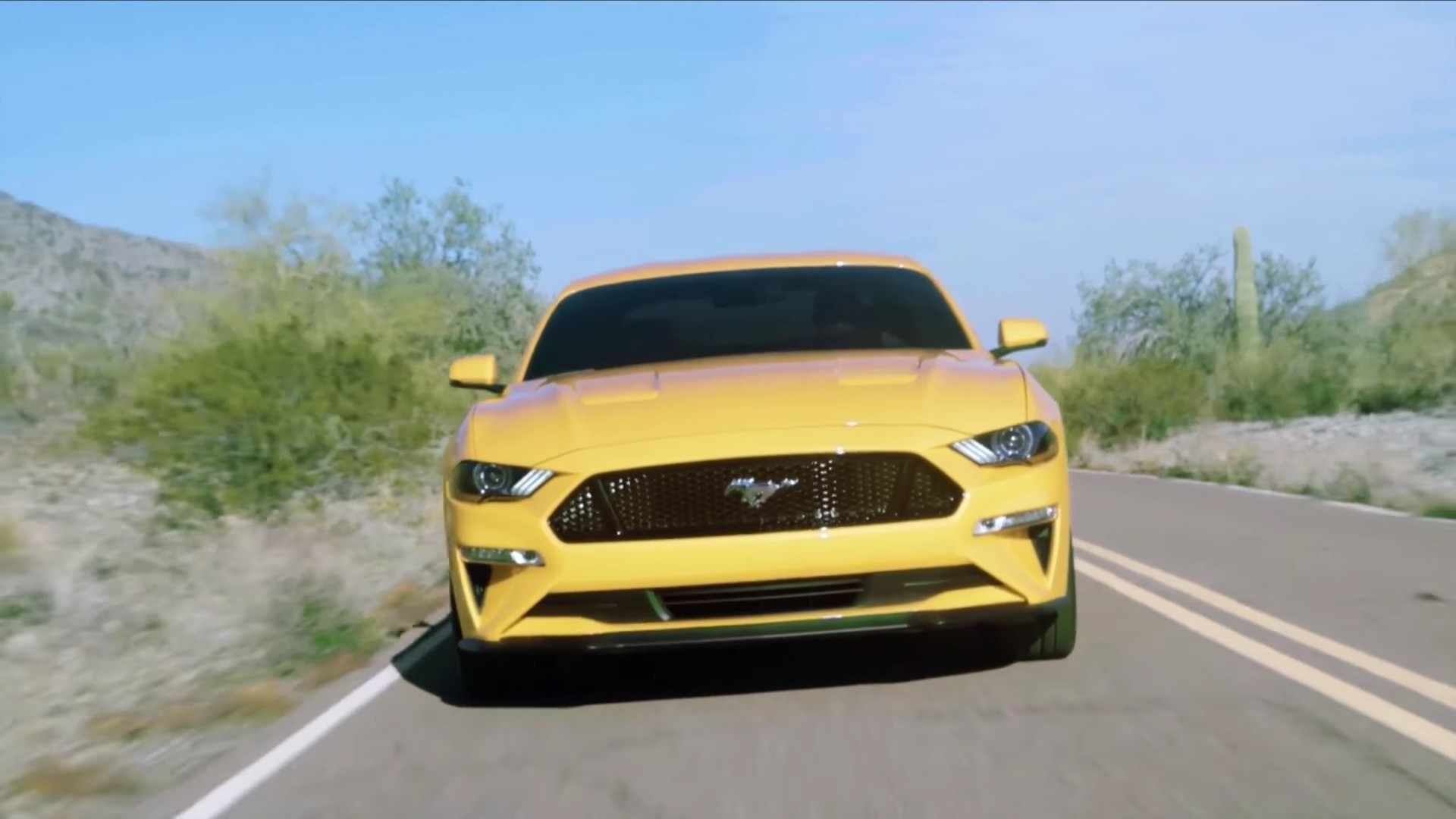 1920x1080 ... 2018 Ford Mustang GT Orange Fury with Performance Pack ...