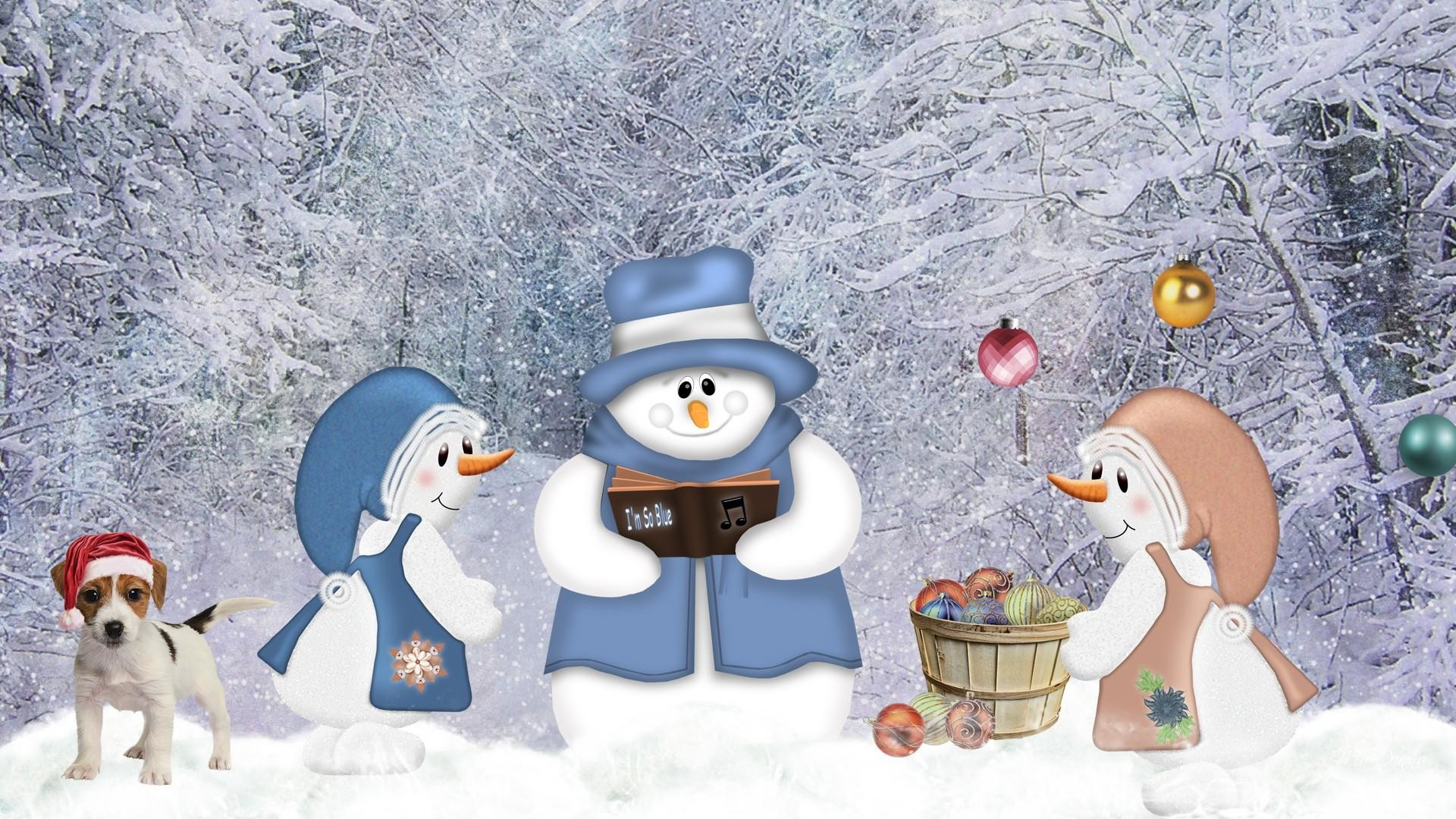 1920x1080 FunMozar – Christmas Snow Wallpapers