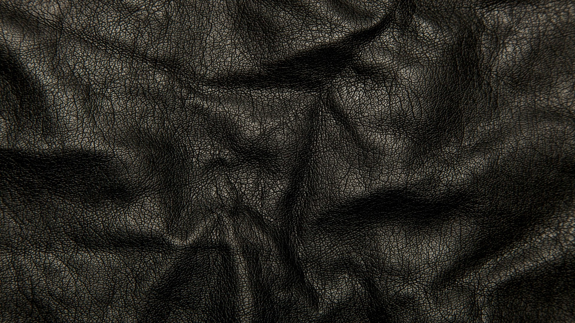 1920x1080 Preview wallpaper leather, black, background, texture, wrinkles, cracks