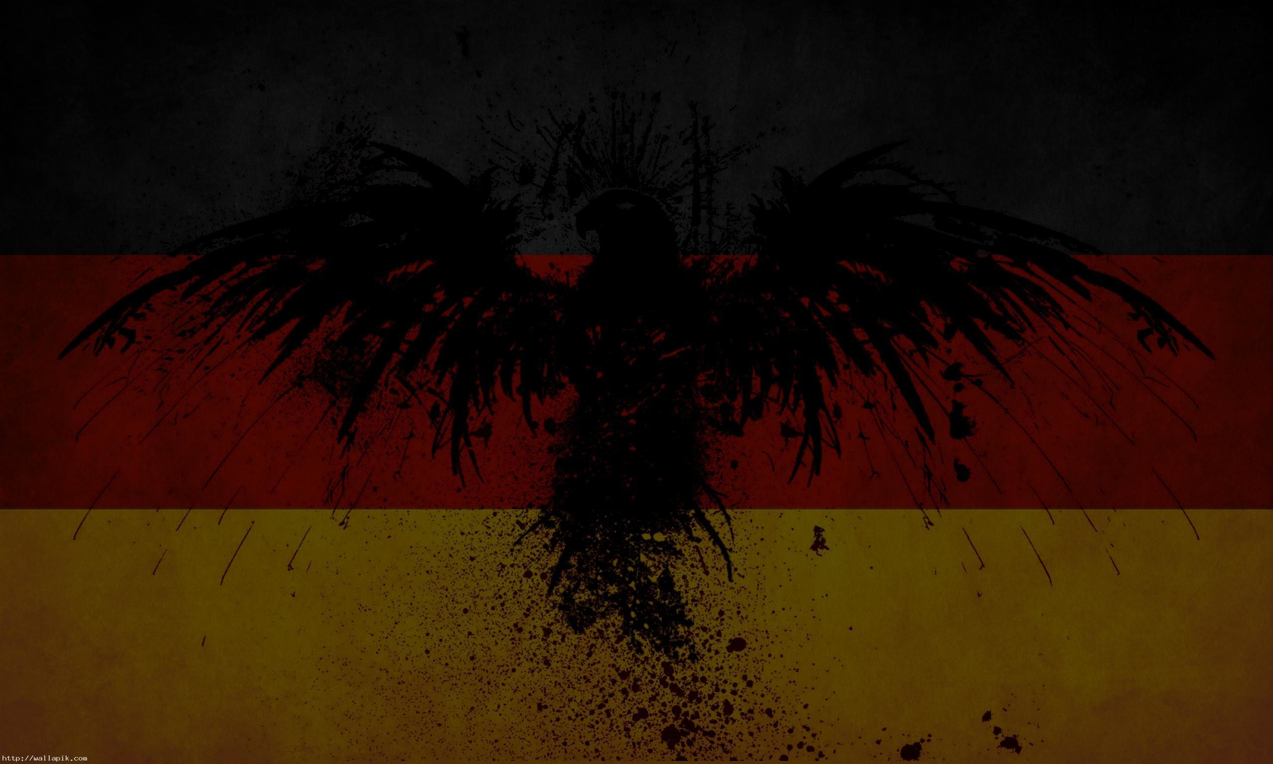 2560x1536 german flag eagle wallpaper