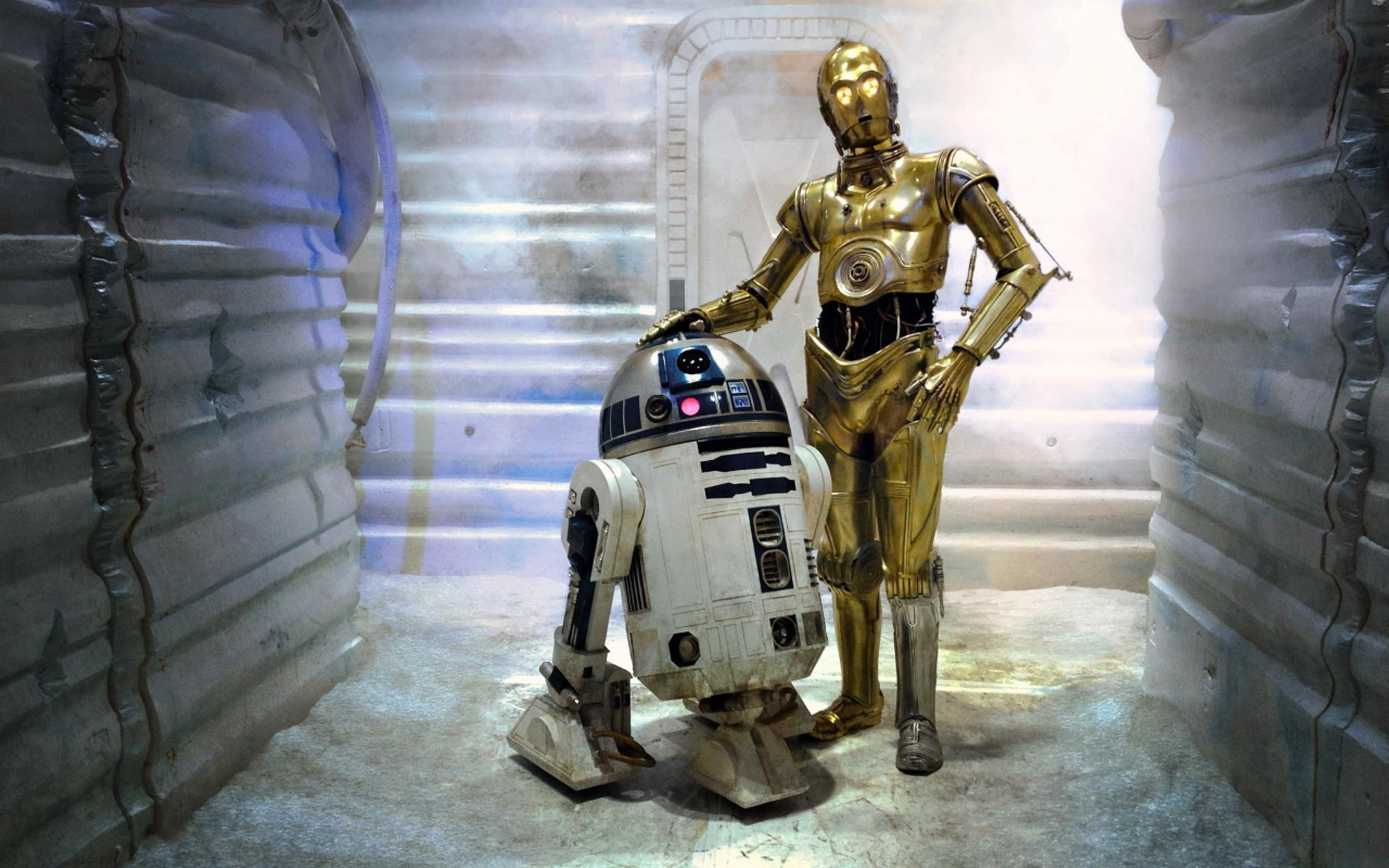 1920x1200 R2 D2 C 3PO Best Friends Wallpaper