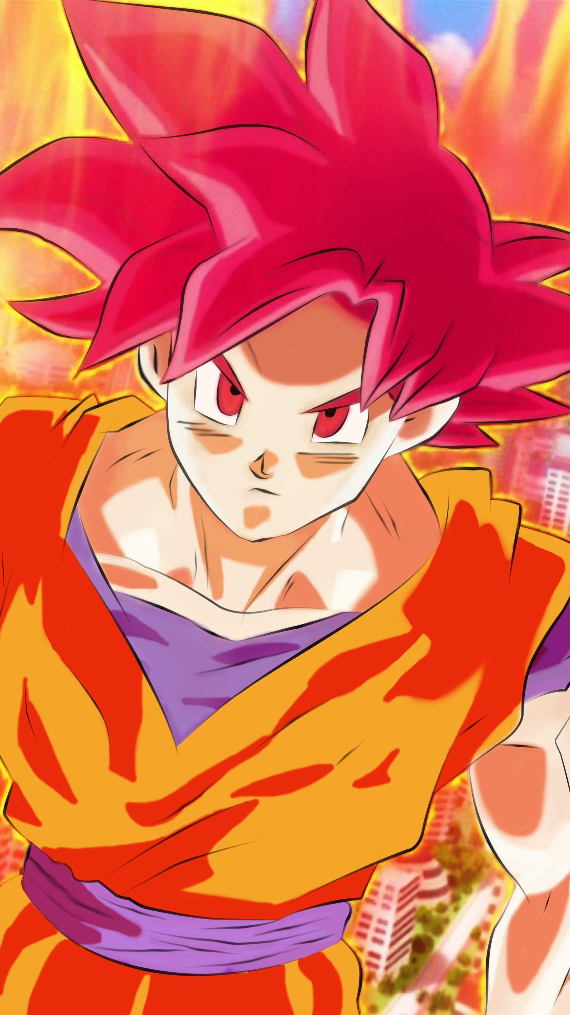 Super Saiyan God Goku Wallpaper (71+ images) Dragon Ball Z Goku Super Saiyan 6 Wallpapers