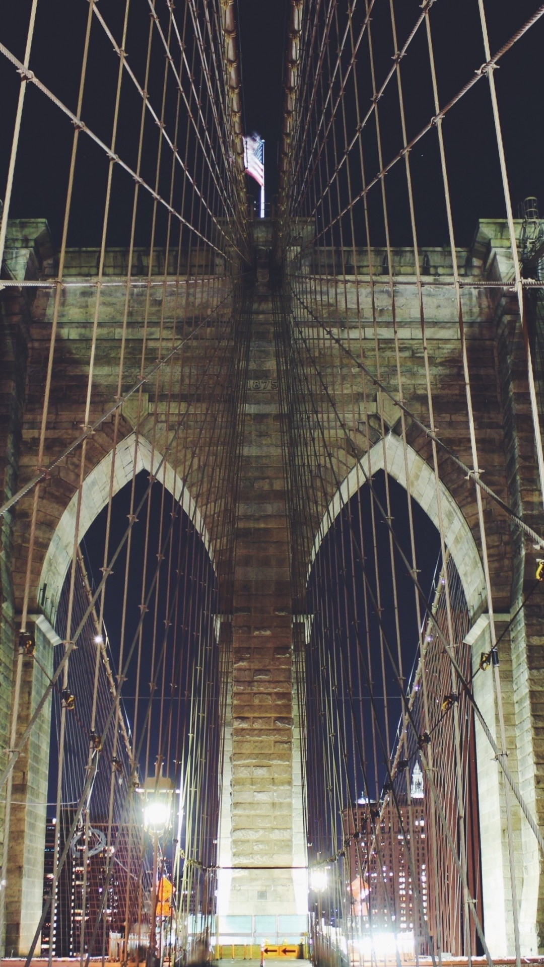 1080x1920 Preview wallpaper new york, manhattan, brooklyn bridge