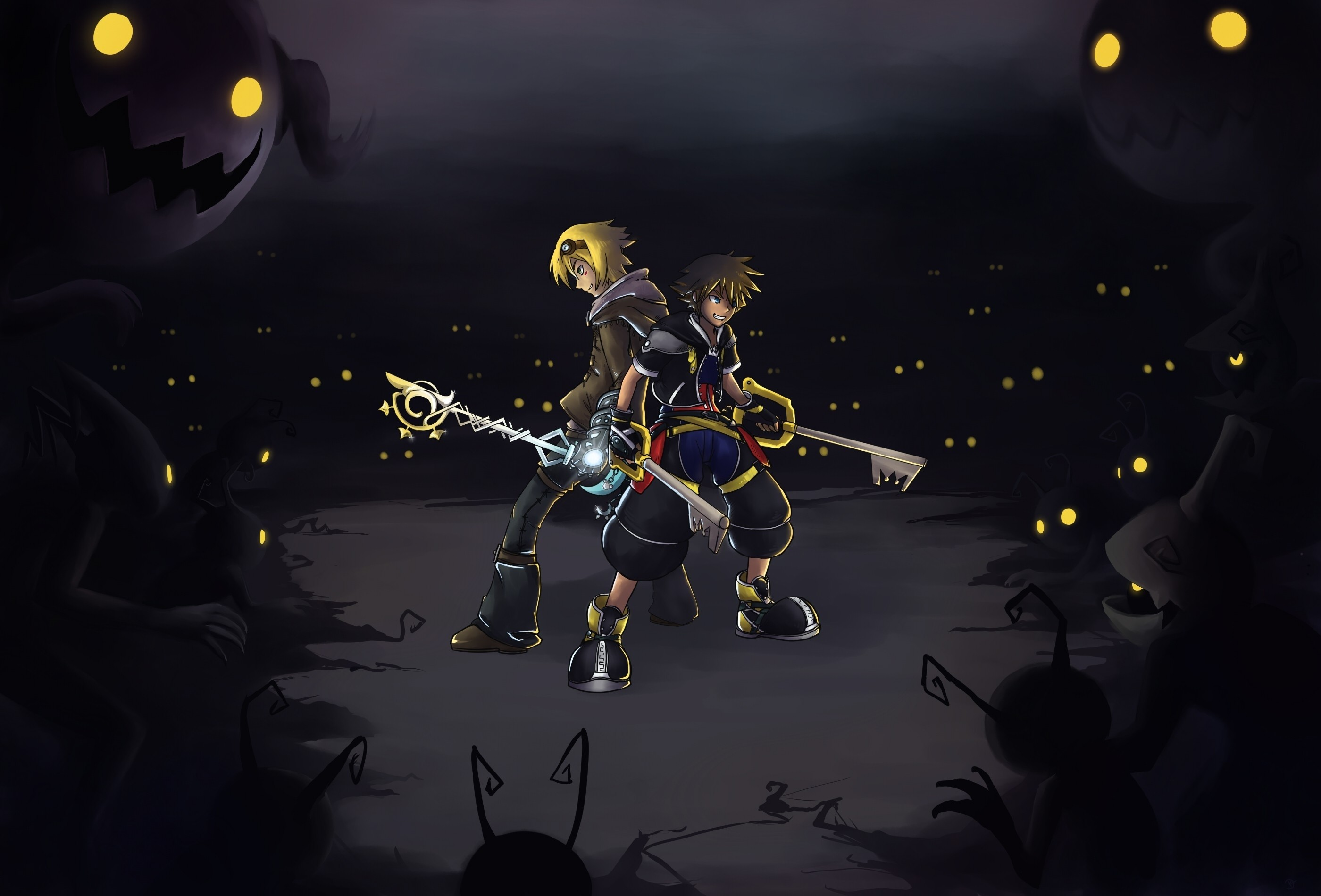 2800x1900 Kingdom hearts league of legends ezreal dangerous sora  wallpaper