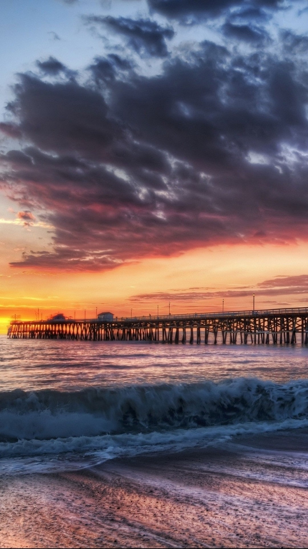1080x1920 California Beach Dock Sunset iPhone 6 Wallpaper Download | iPhone .