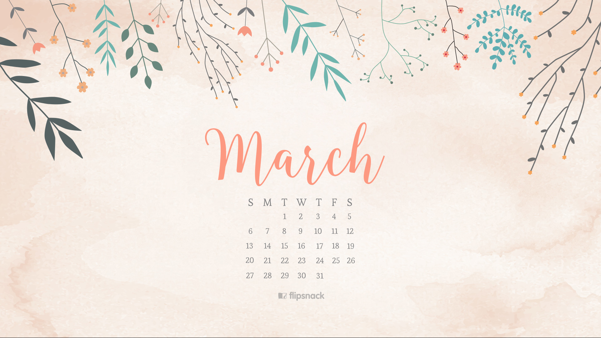 free desktop calendar wallpaper 2018