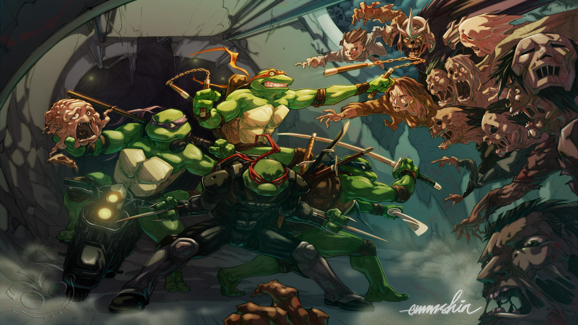 1920x1080 Wallpapers X Hd Tmnt Zombie Apocalypse