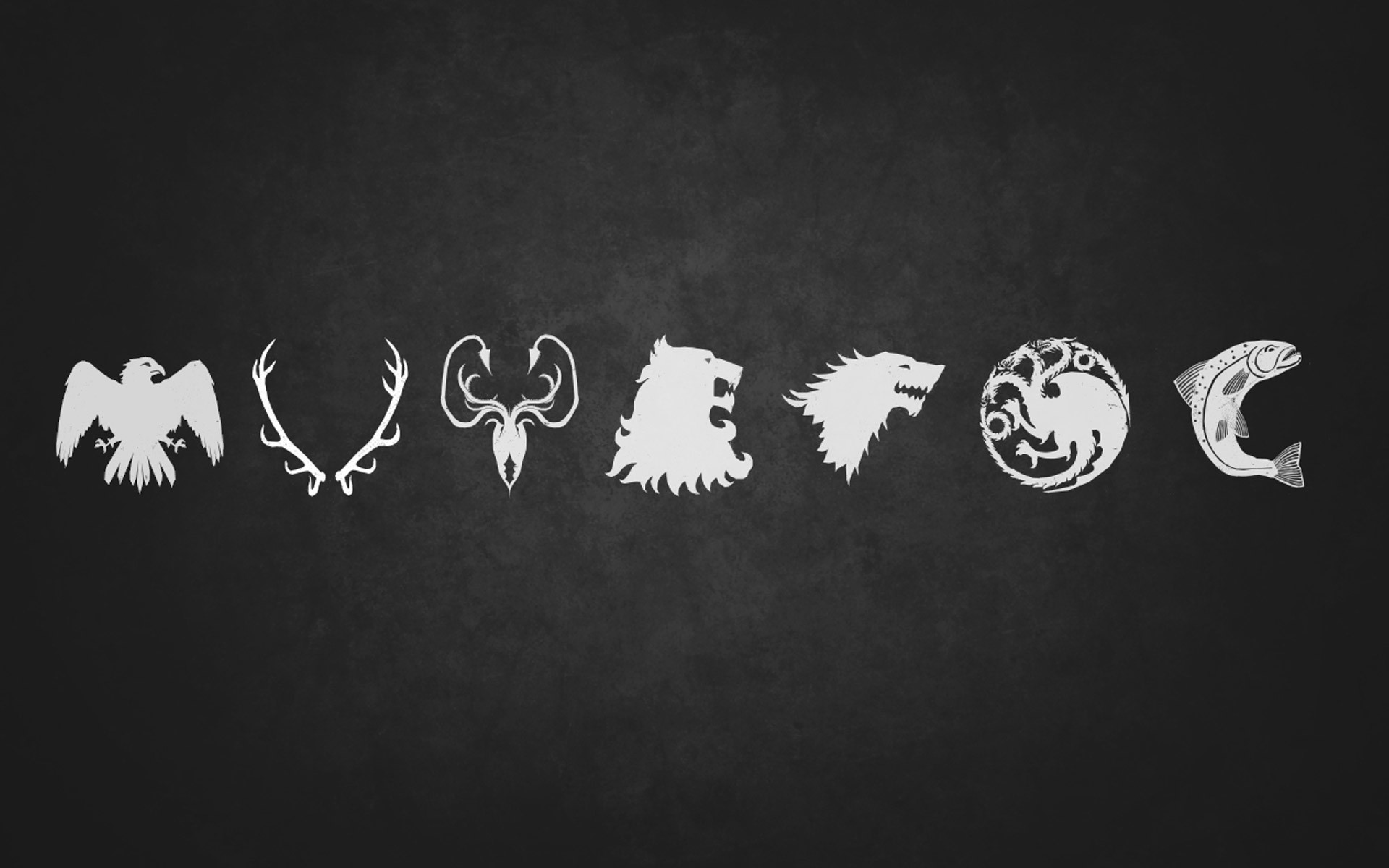 1920x1200 minimalistic Game of Thrones TV series arms House Arryn House Greyjoy House  Lannister House Stark House Targaryen House Baratheon House Tully /  Wallpaper