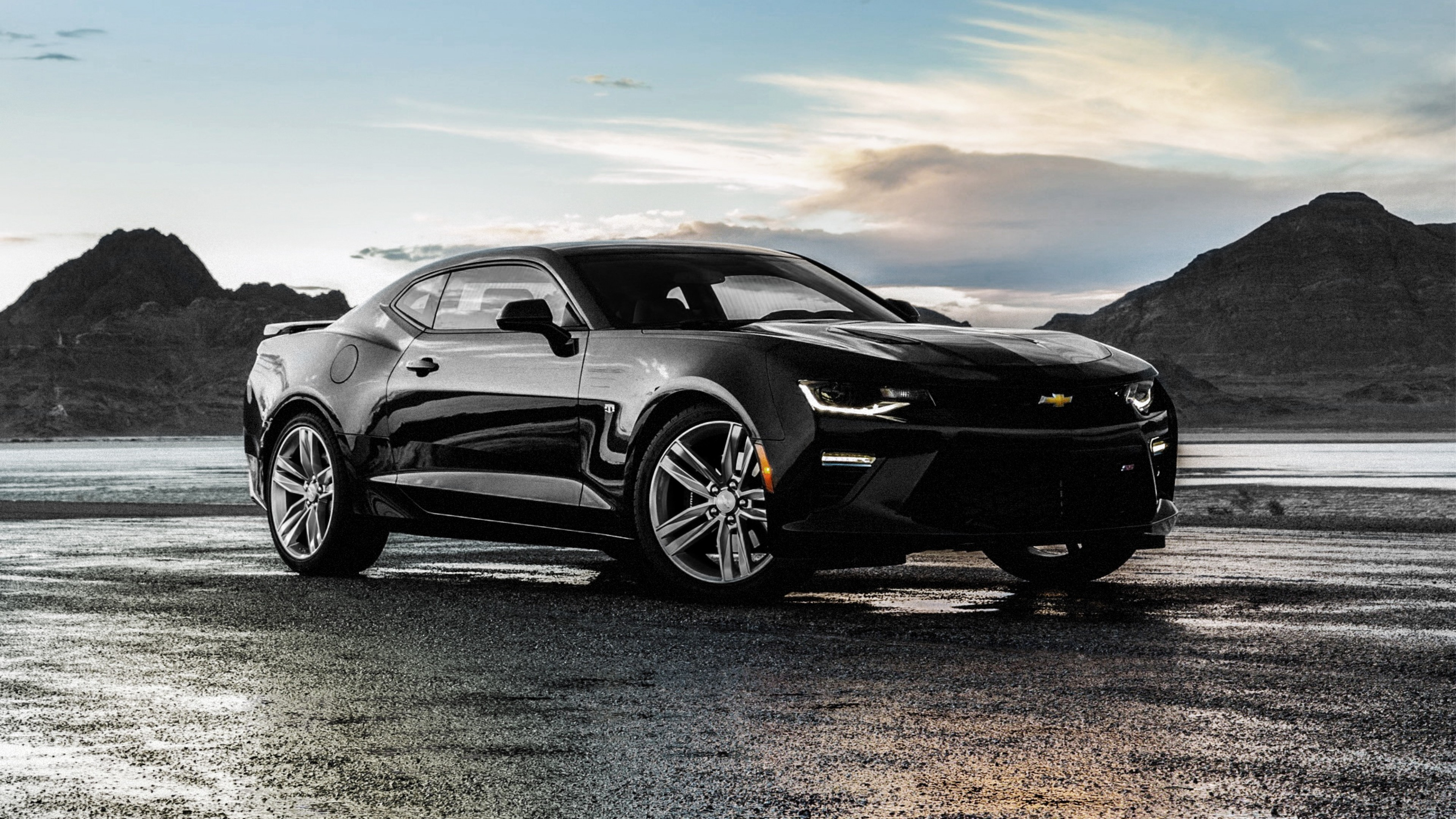 3840x2160 Chevrolet Camaro SS Black (1152x864 Resolution)