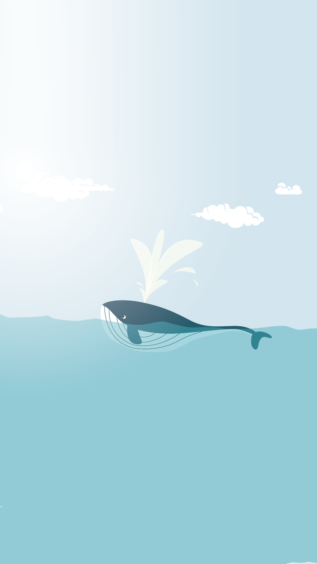 1080x1920 Minimal iPhone wallpapers ❤ Happy whale More