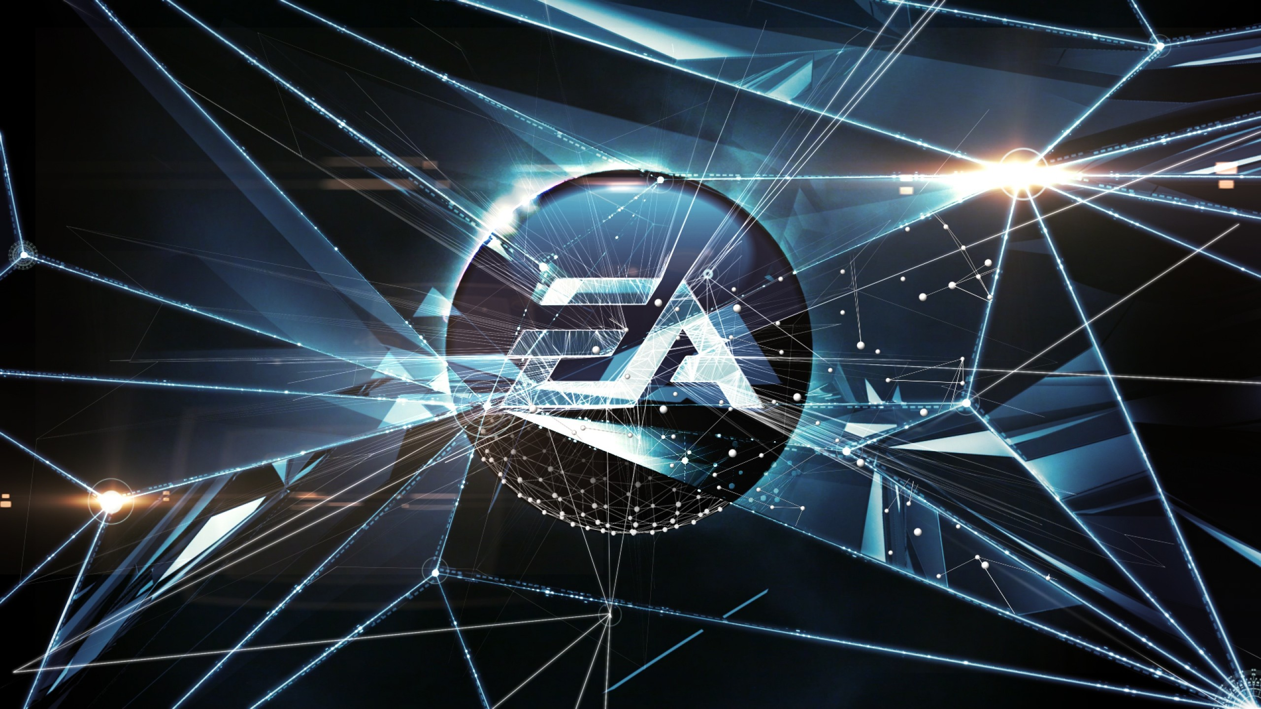 2560x1440  Wallpaper electronic arts, art, corporation, logo, video games
