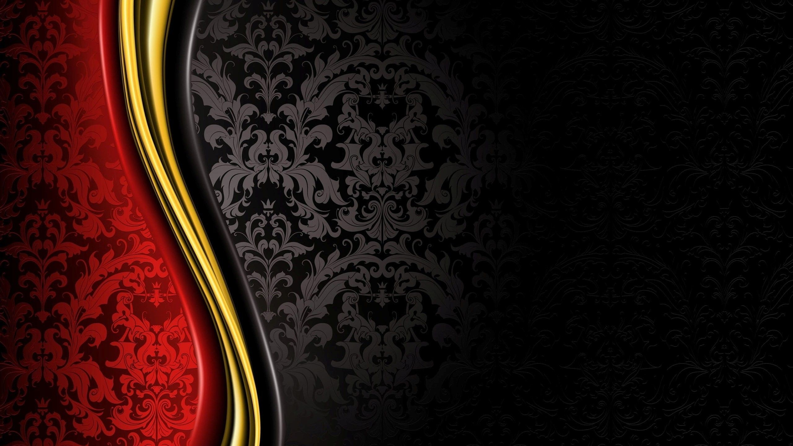 2560x1440 luxury, Royal, Grand, Black, Gold, Red, Abstract Wallpapers HD