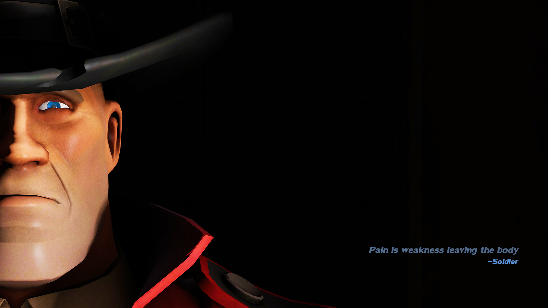 1920x1080 Video Game - Team Fortress 2 Soldier (Team Fortress) Dark Wallpaper