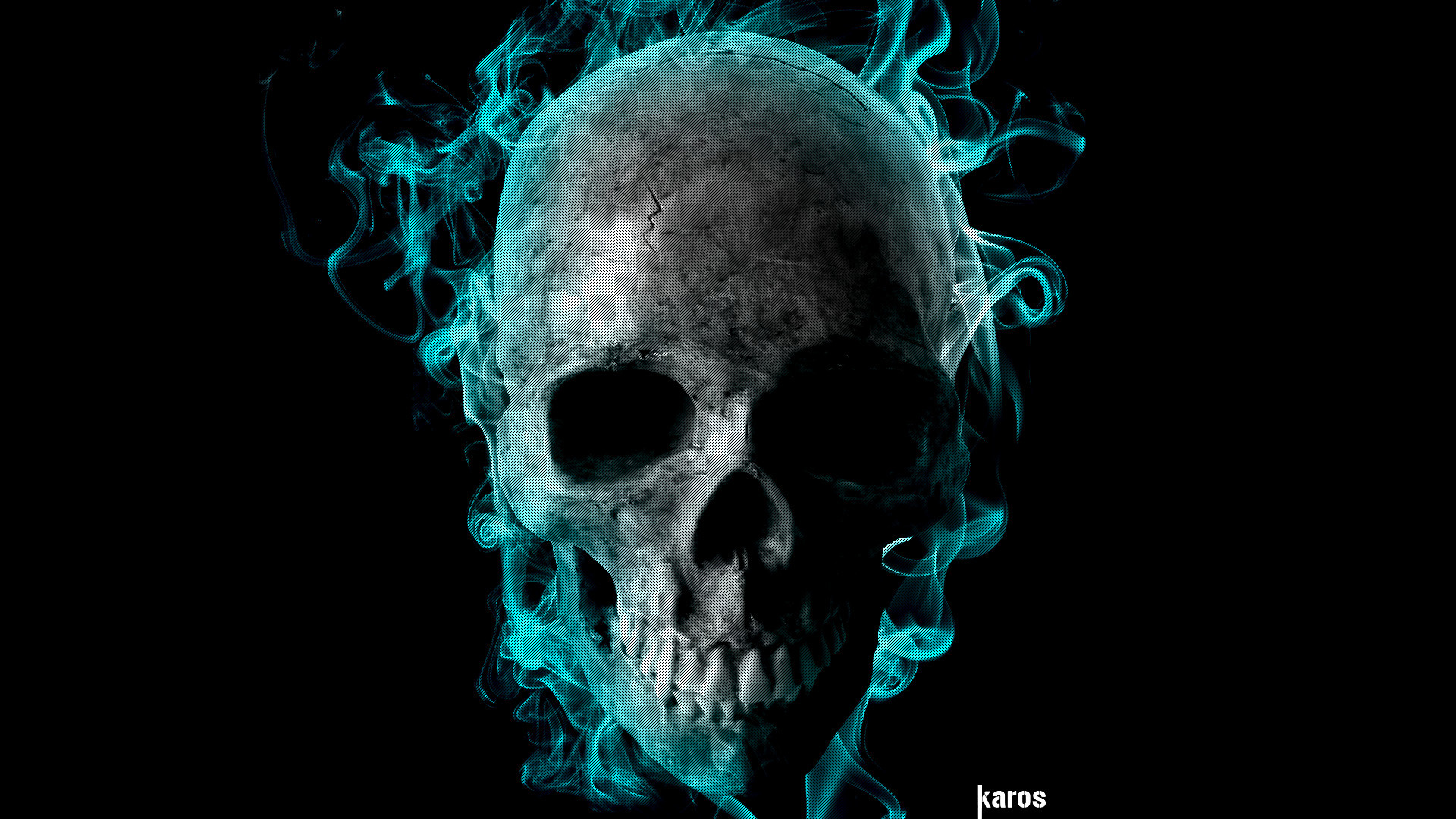 Flaming Skull Wallpapers (50+ images)