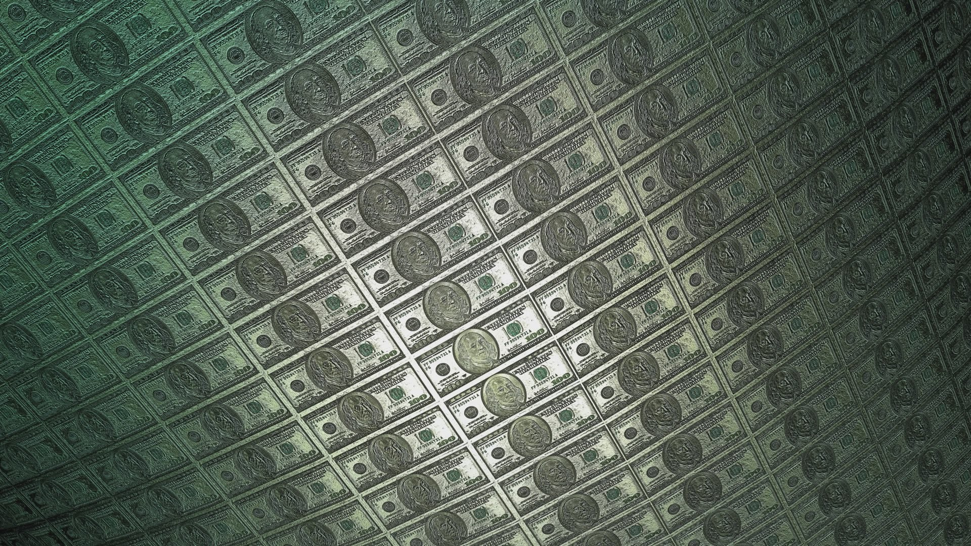 1920x1080 60FPS 100$ Dollar Bill Franklin Metal Roll 1080p Background Animation