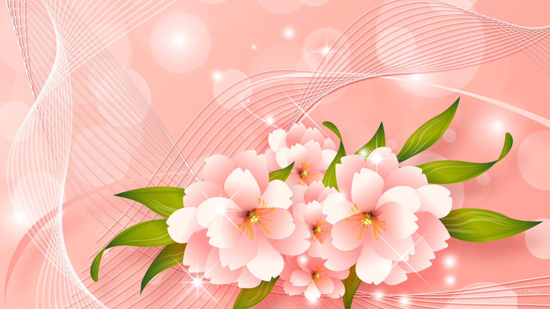 1920x1080 3d abstract pink peach flowers full hd wallpaper download peach flowers  images free
